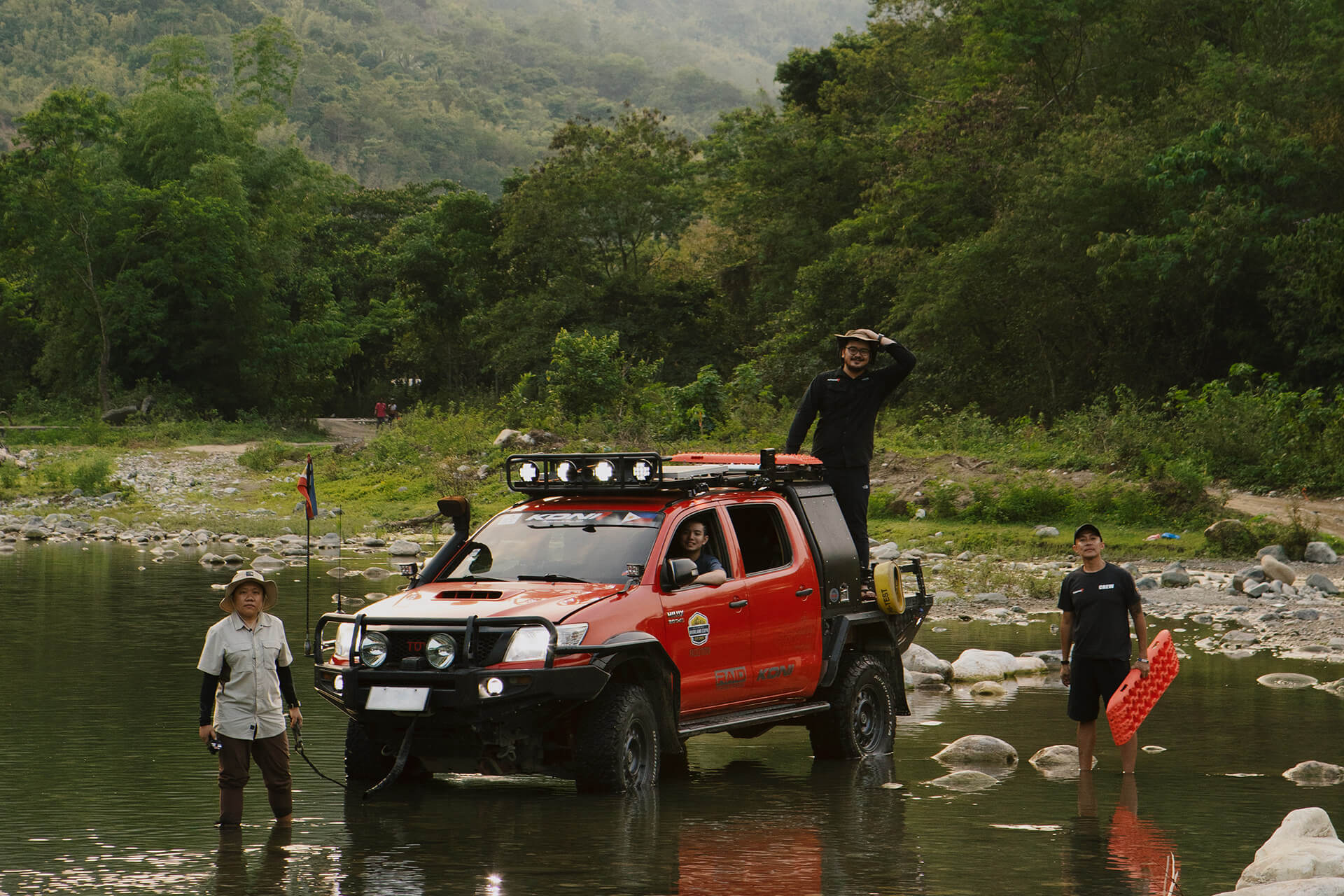 The world of off-roading, camping, and the great outdoors from the backseat of a Toyota Hilux.