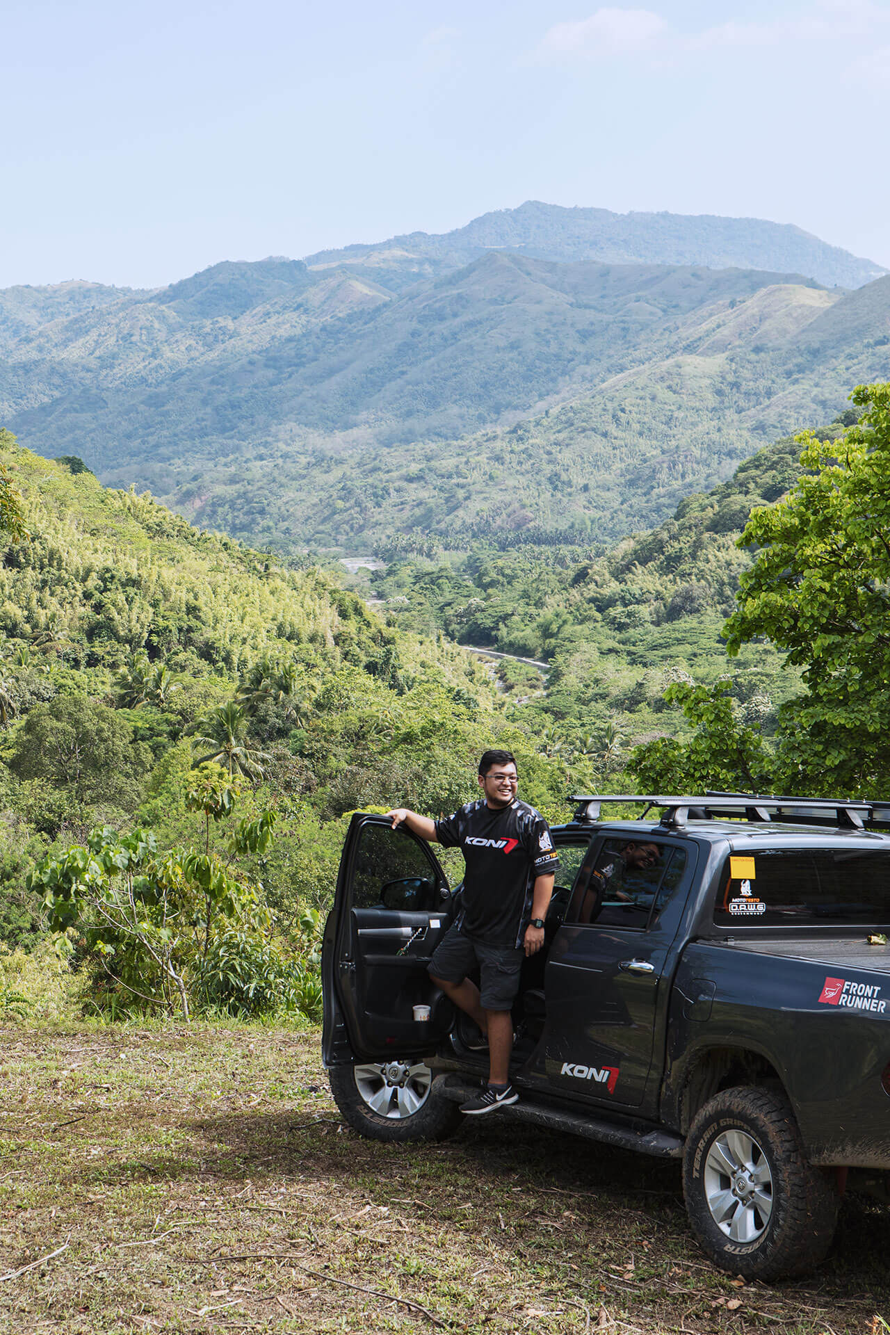 AcCamper on the Toyota Hilux overlooking Tanay mountain range