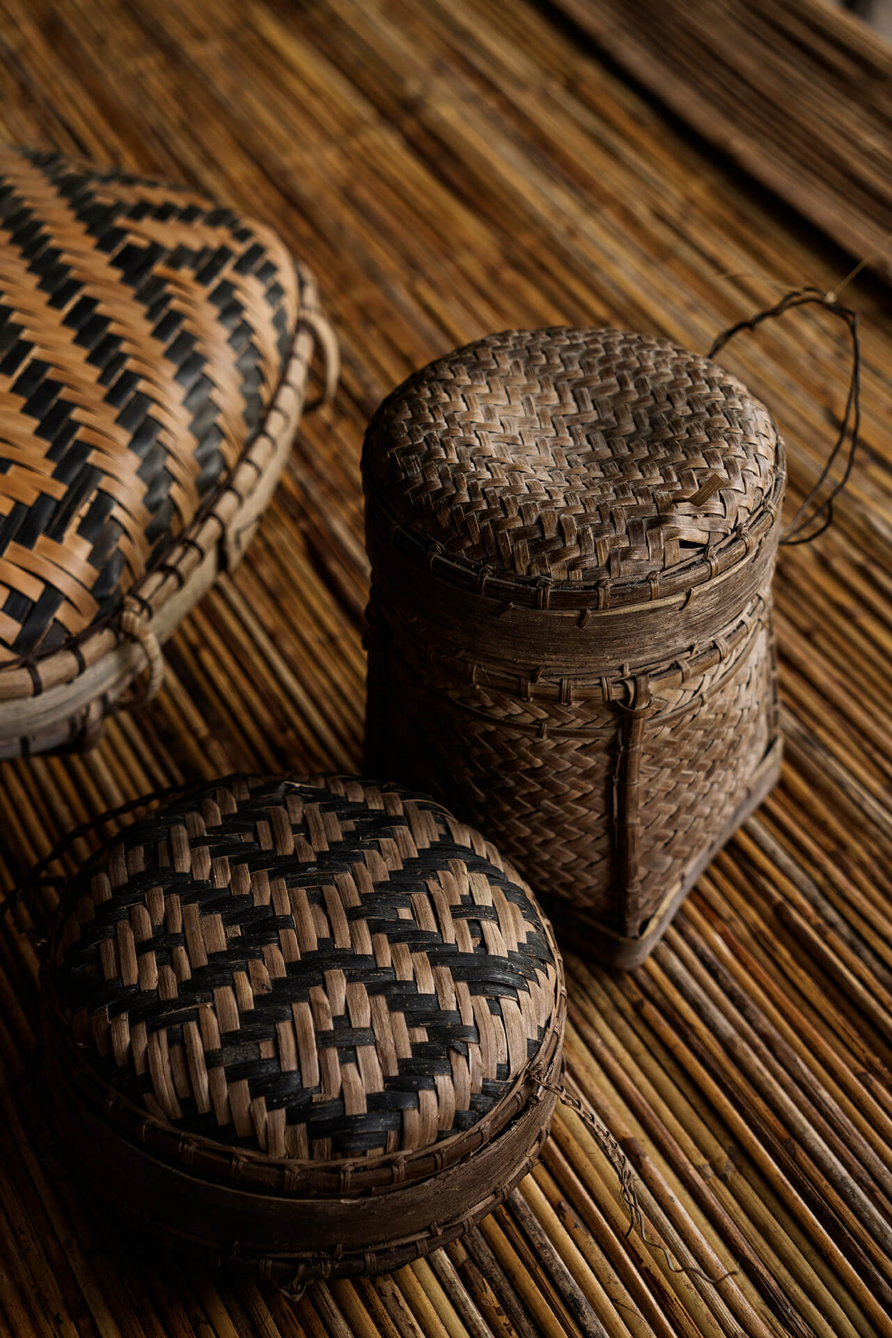 tingkep woven baskets made of rattan