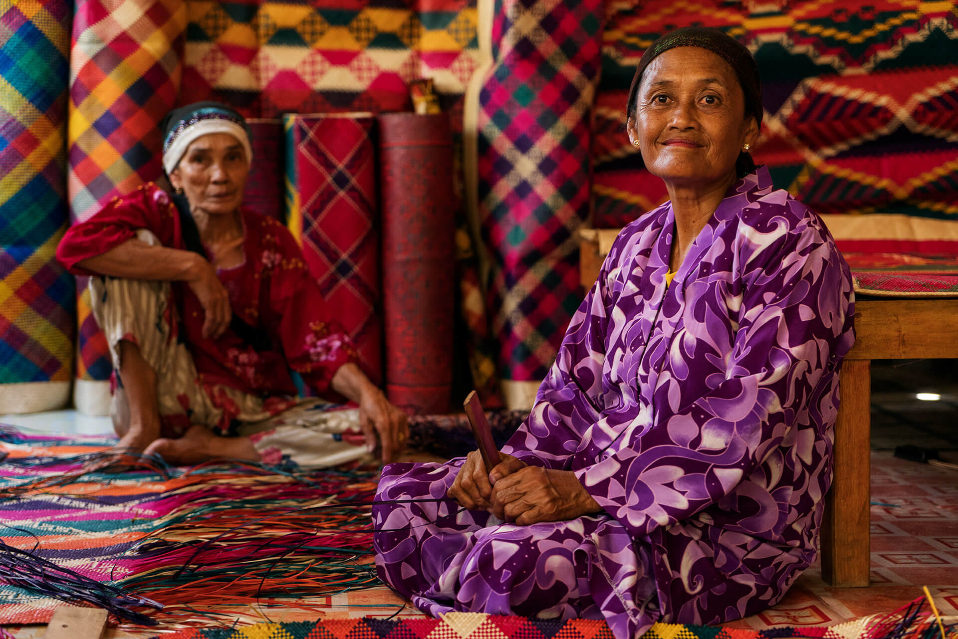 indigenous women in Palawan's weaving communities