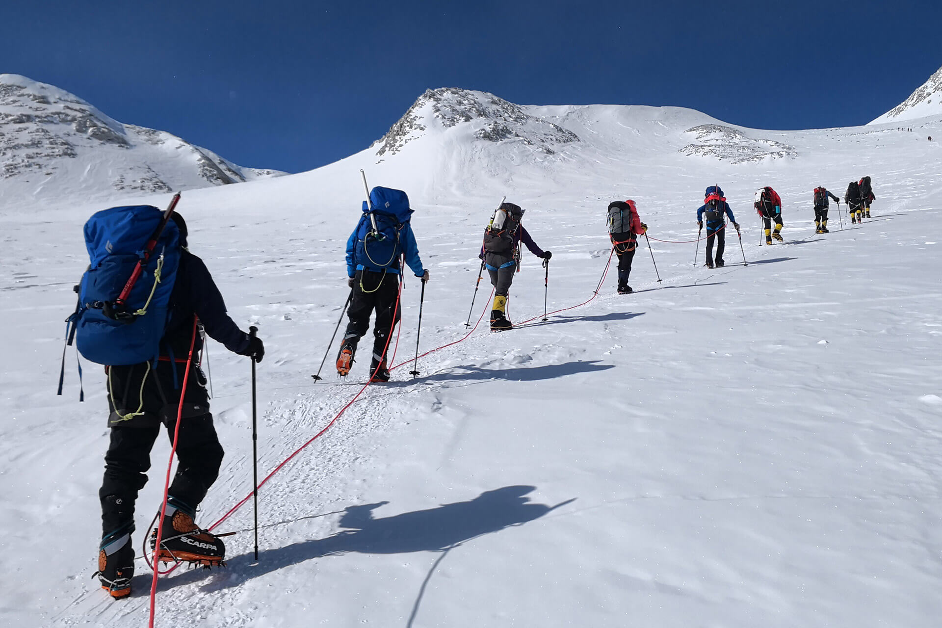 Carina Dayondon and a band of Summiteers hiking the peaks of Mt. Vinson
