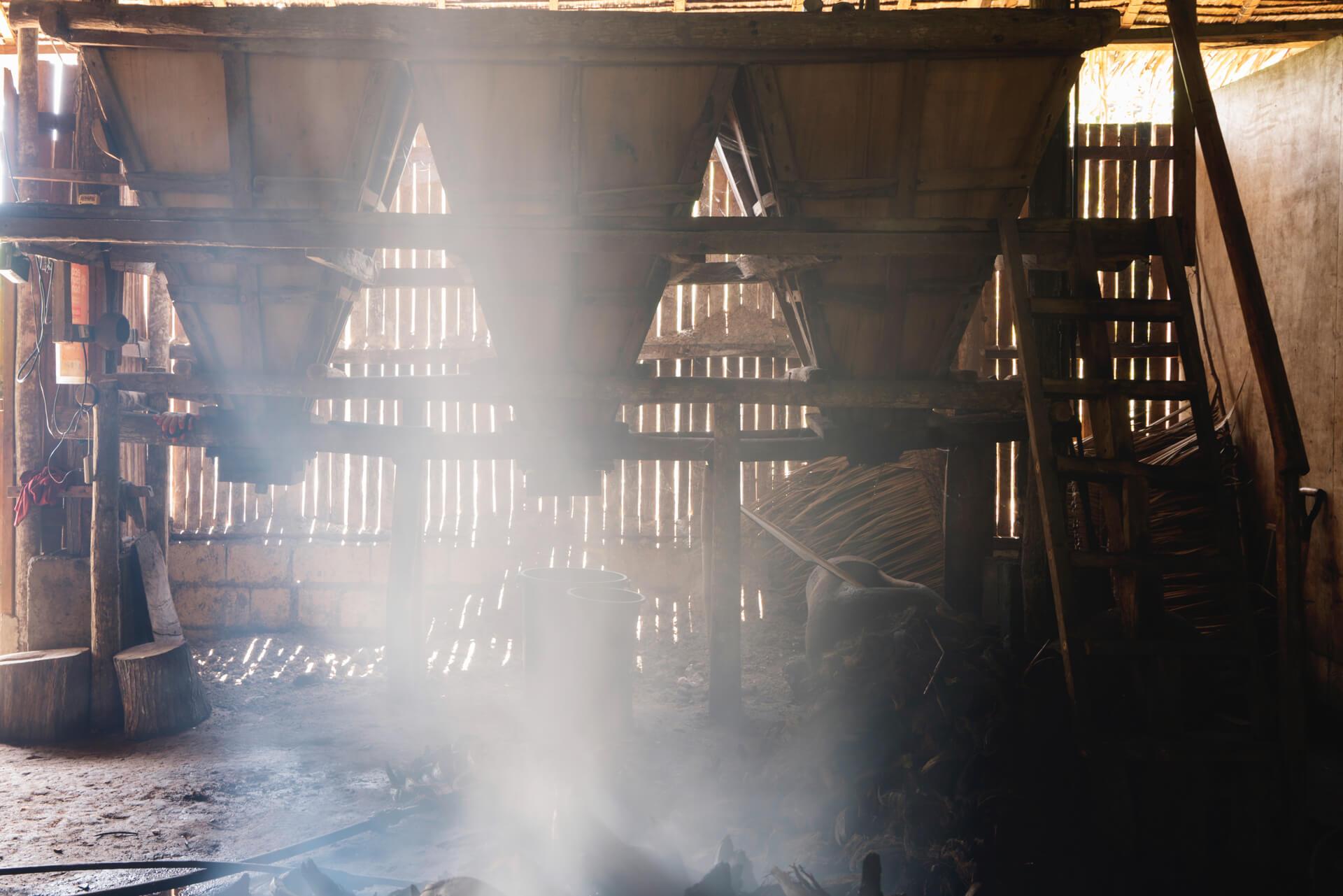 Interior of the Manongas family asinan in Albuquerque, Bohol
