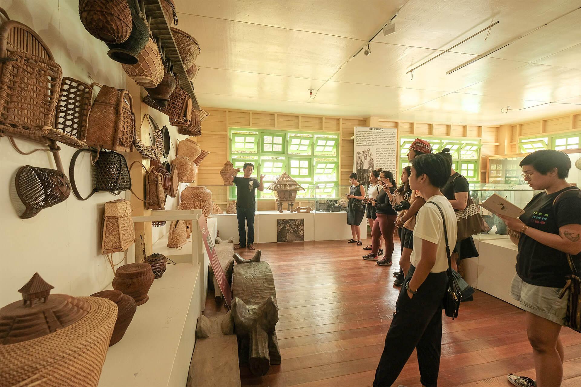 Marlon Martin leads the tour featuring Ifugao woven baskets