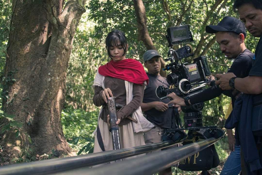 Actor Mary Joy Apostol on location in Bukidnon while filming Birdshot