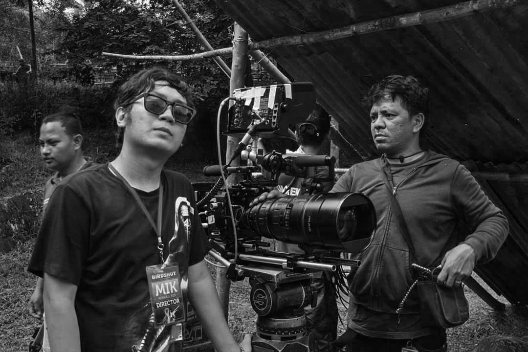Director Mikhail Red while filming on location for Birdshot