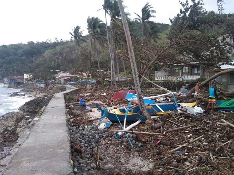Torn down shoreline brought about by Typhoon Ulysses's destruction. Photos provided by Reef Picks