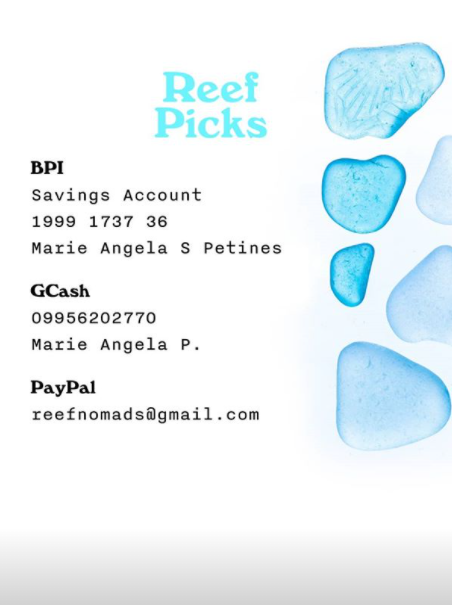 Reef Picks donation drive account details