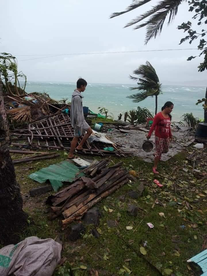 Torn down houses brought about by Typhoon Ulysses's destruction. Photos provided by Reef Picks