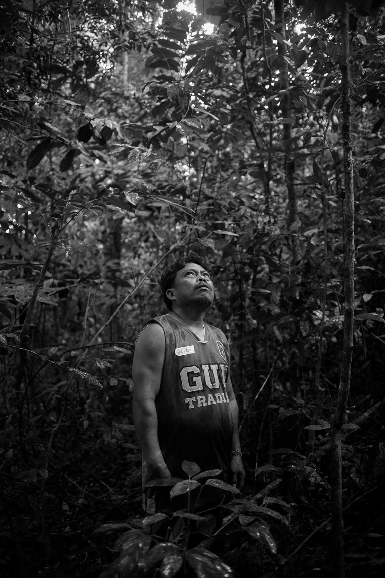 Noel Torremocha navigating the dense forrest in mystical Mt. Bandilaan, Siquijor.