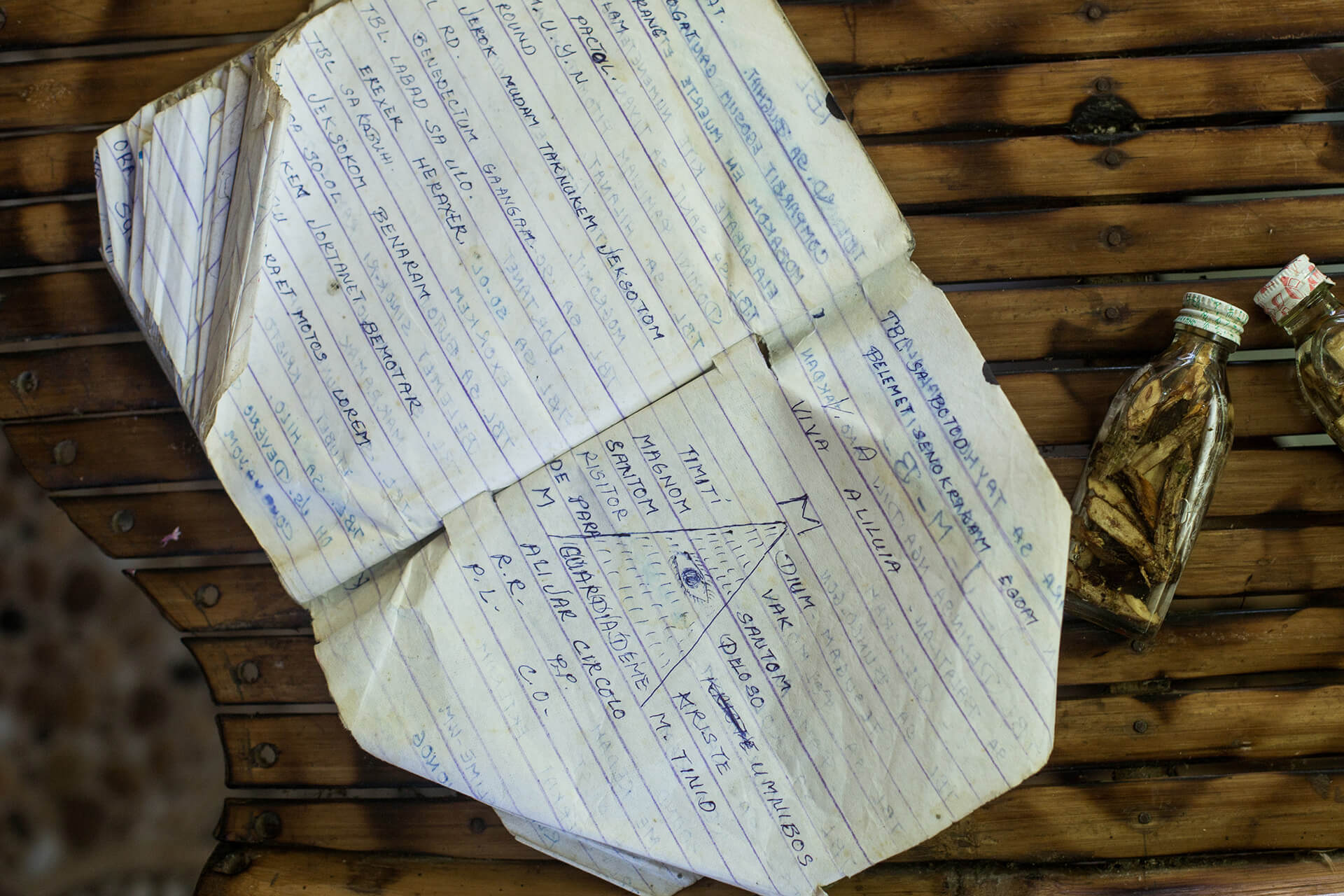 Quirino's notebook of orasyones for every condition or situation.