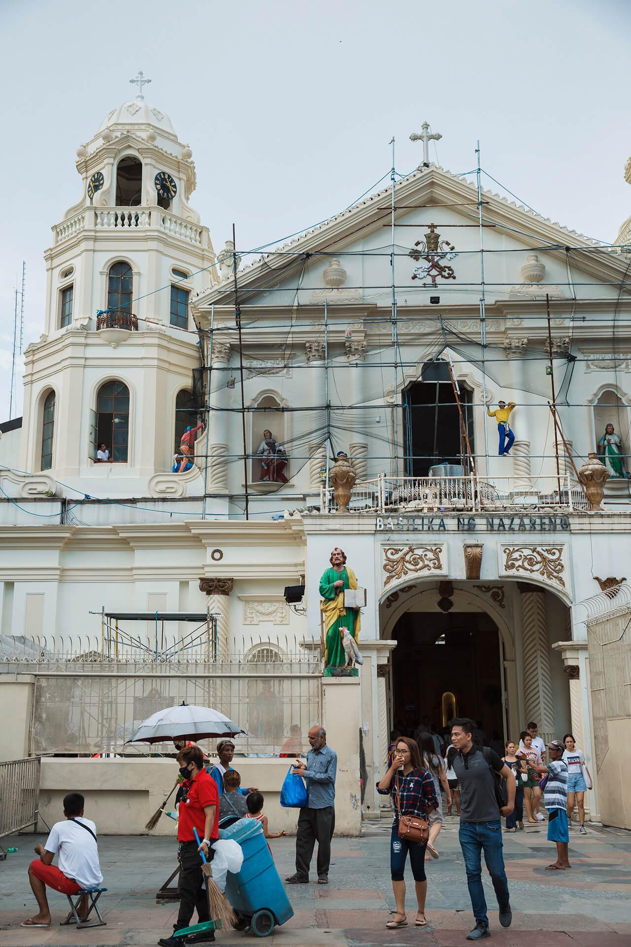 Quiapo Church facade renovation