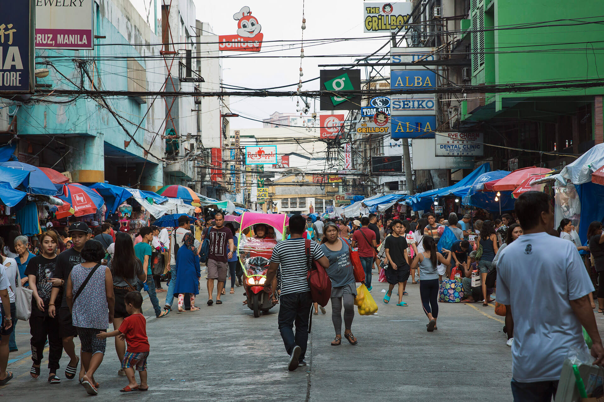 The ever-bustling streets of Carriedo