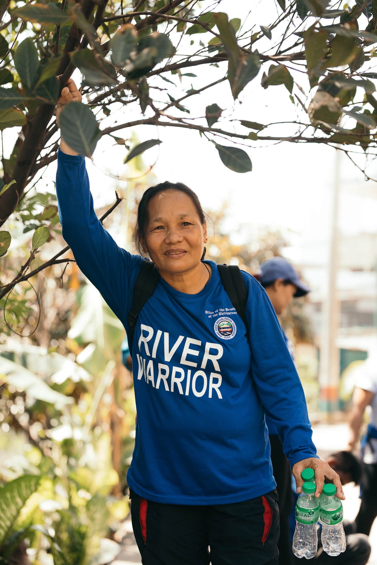 Angie Imperio working as a River Warrior at Estero de Santibañez