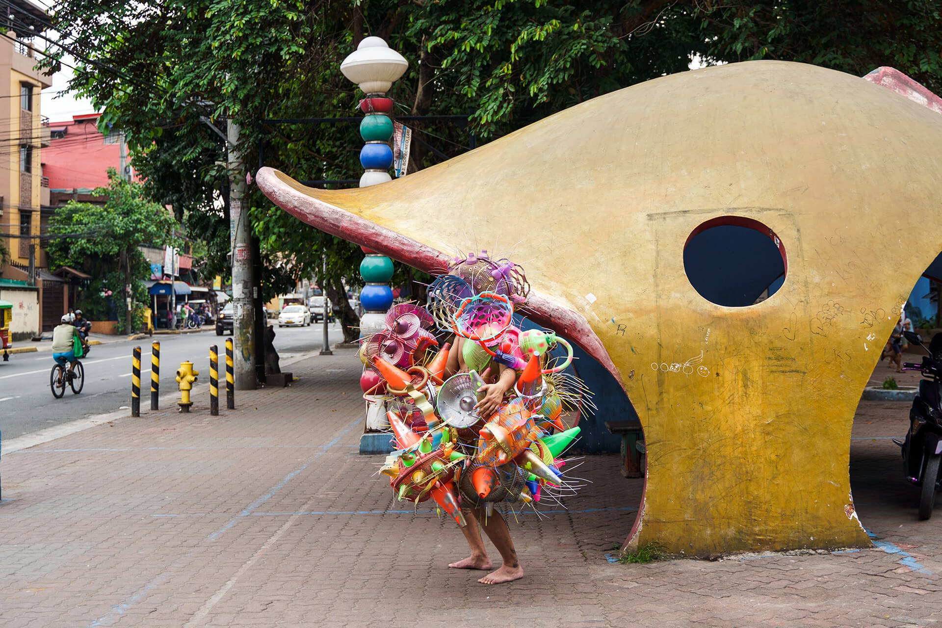 Art Installations in public spaces - By the waiting shed (Aliens of Manila series)