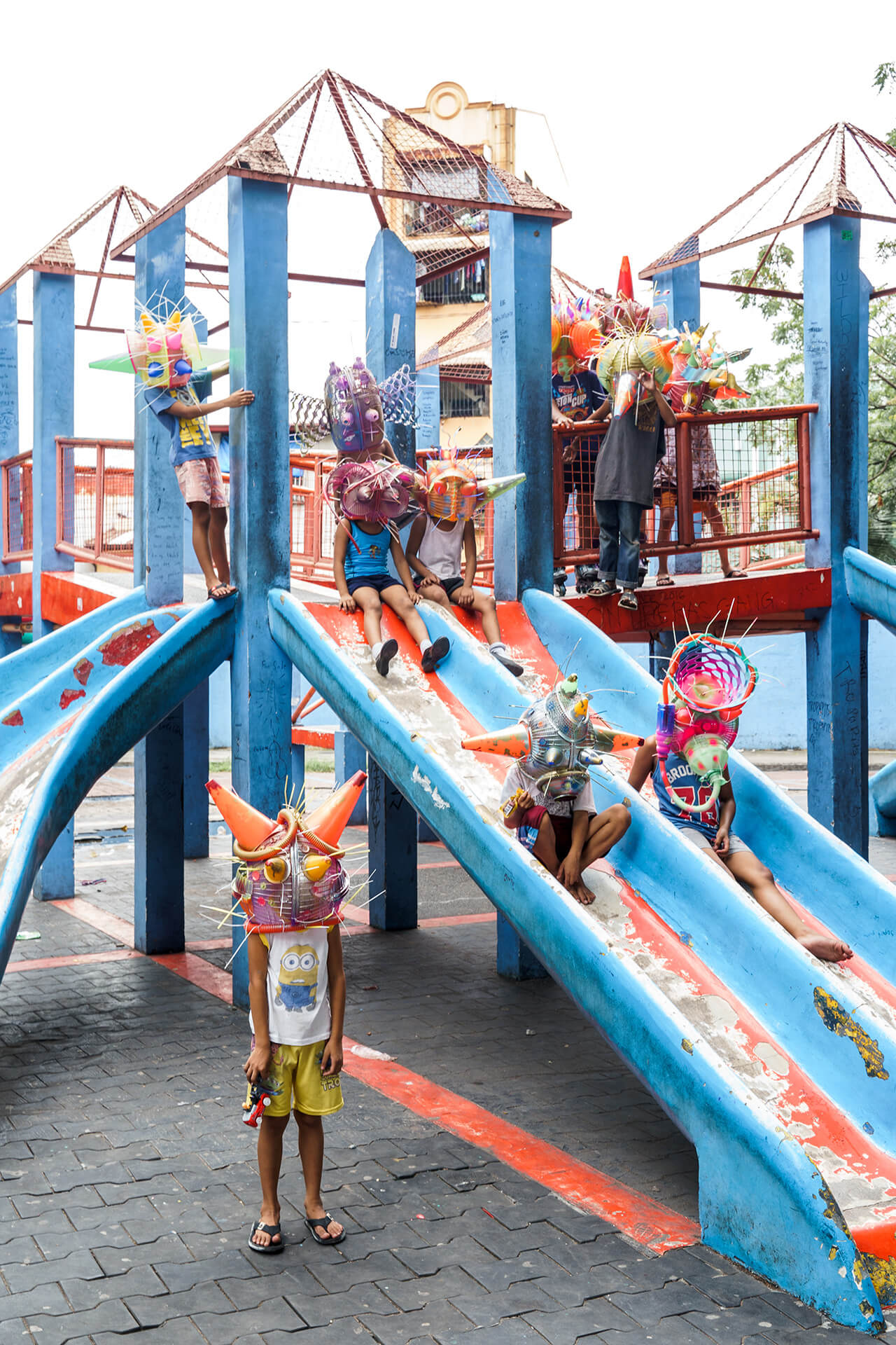Art Installations in public spaces - By the slide / play park (Aliens of Manila series)