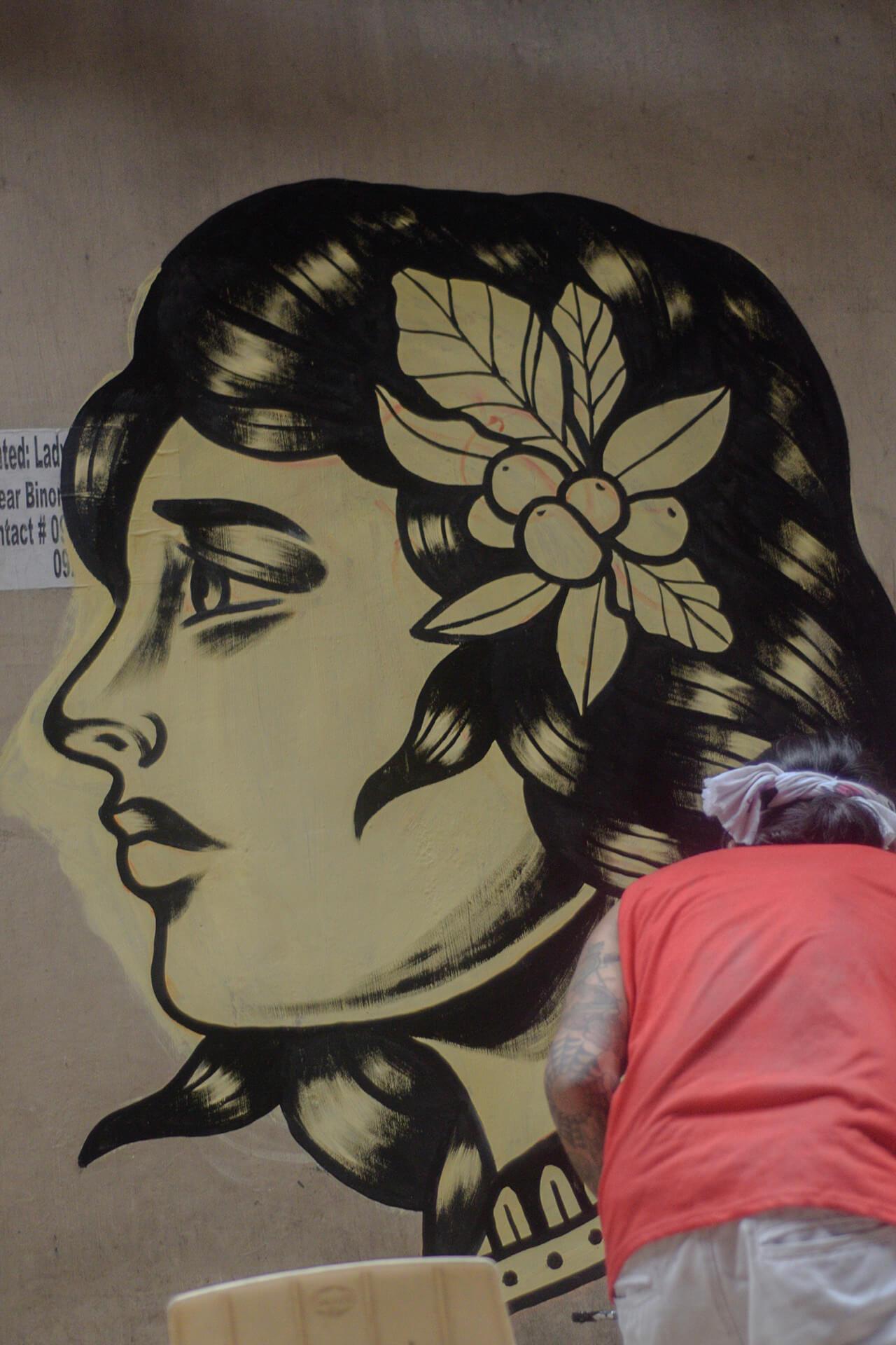 A mural painted along Carvajal Street