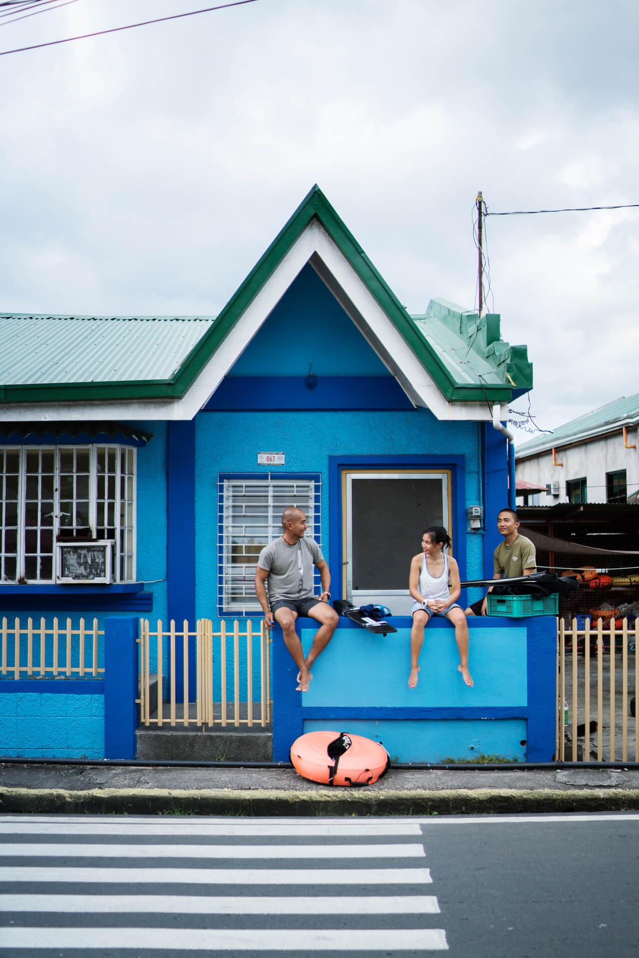 Facade o a dive resort where our freedivers hang out