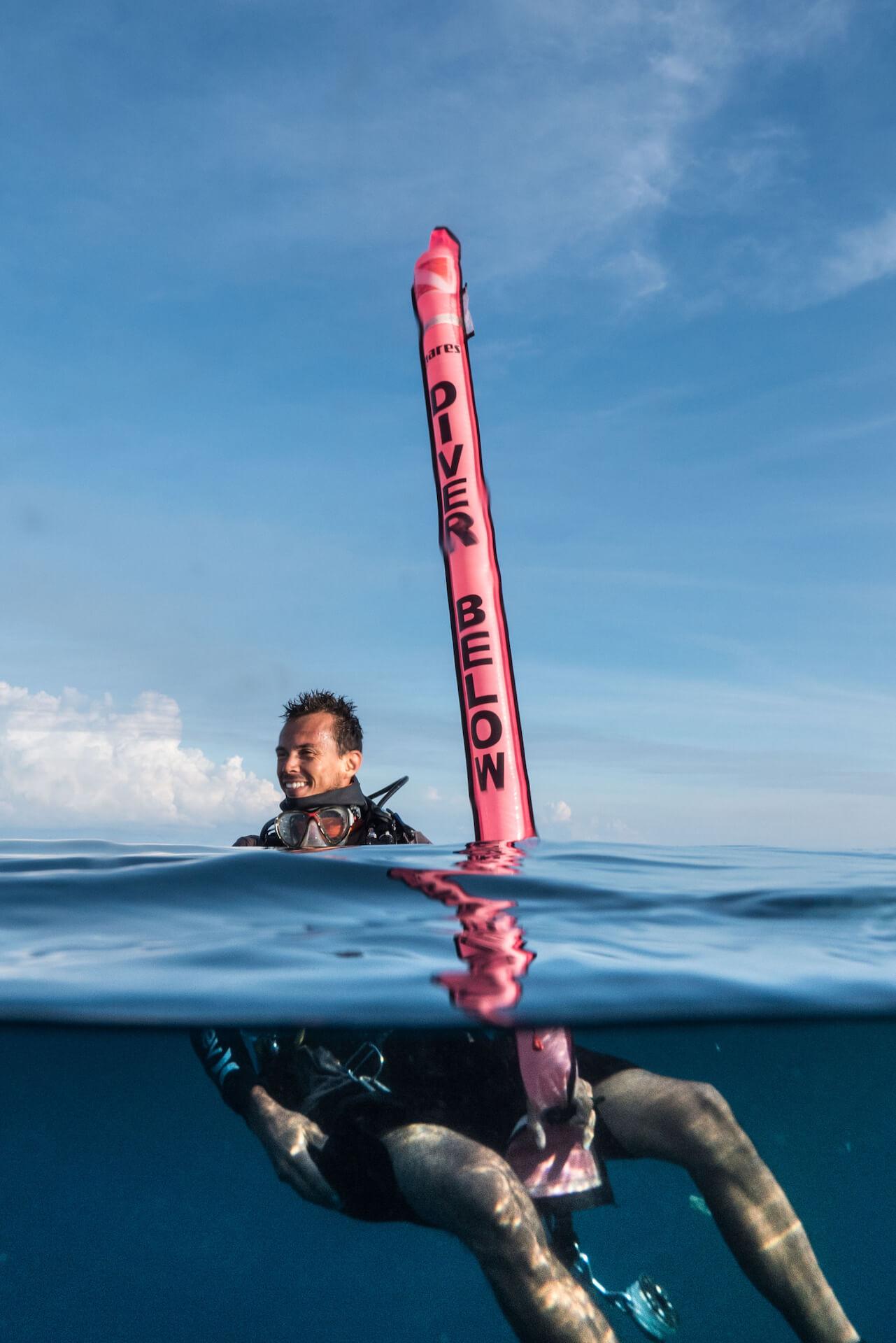 LAMAVE's team scuba diving