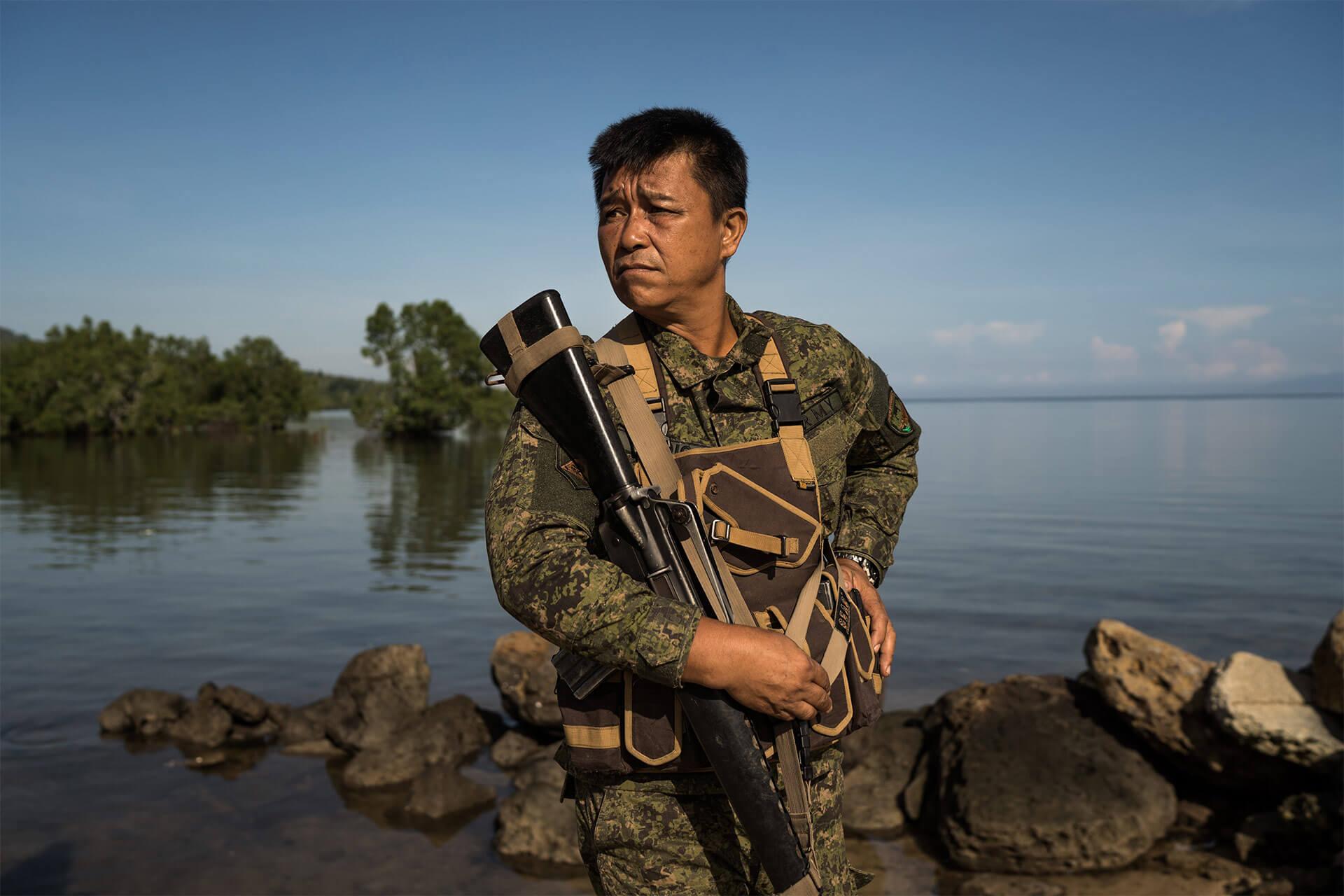 Filipino Soldier in the Bangsamoro