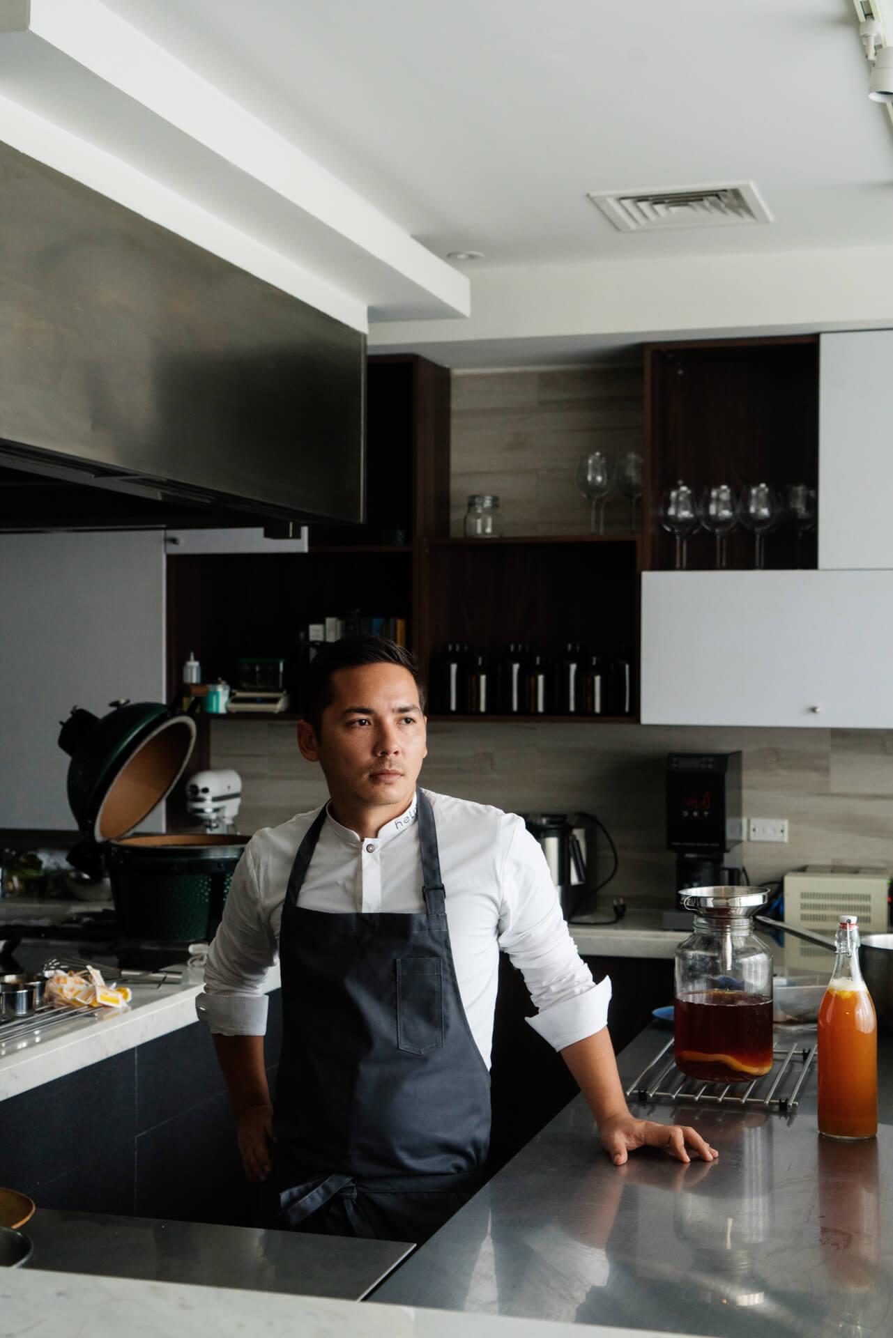 Portrait of Chef Josh Boutwood of Helm