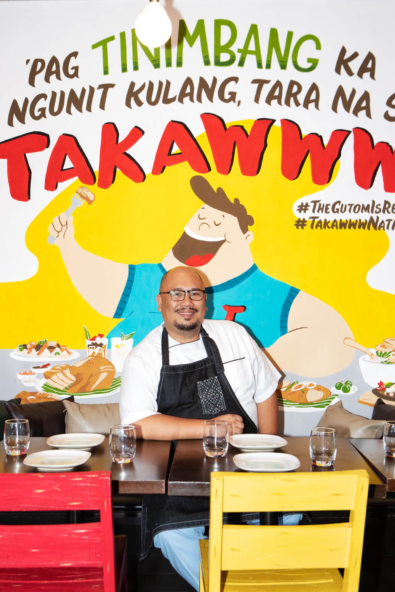 Portrait of Chef Tatung Sarthou of Takaw Eatery