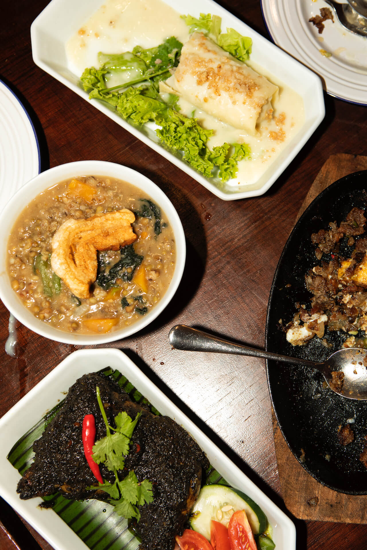 Dishes served at Takaw Eatery