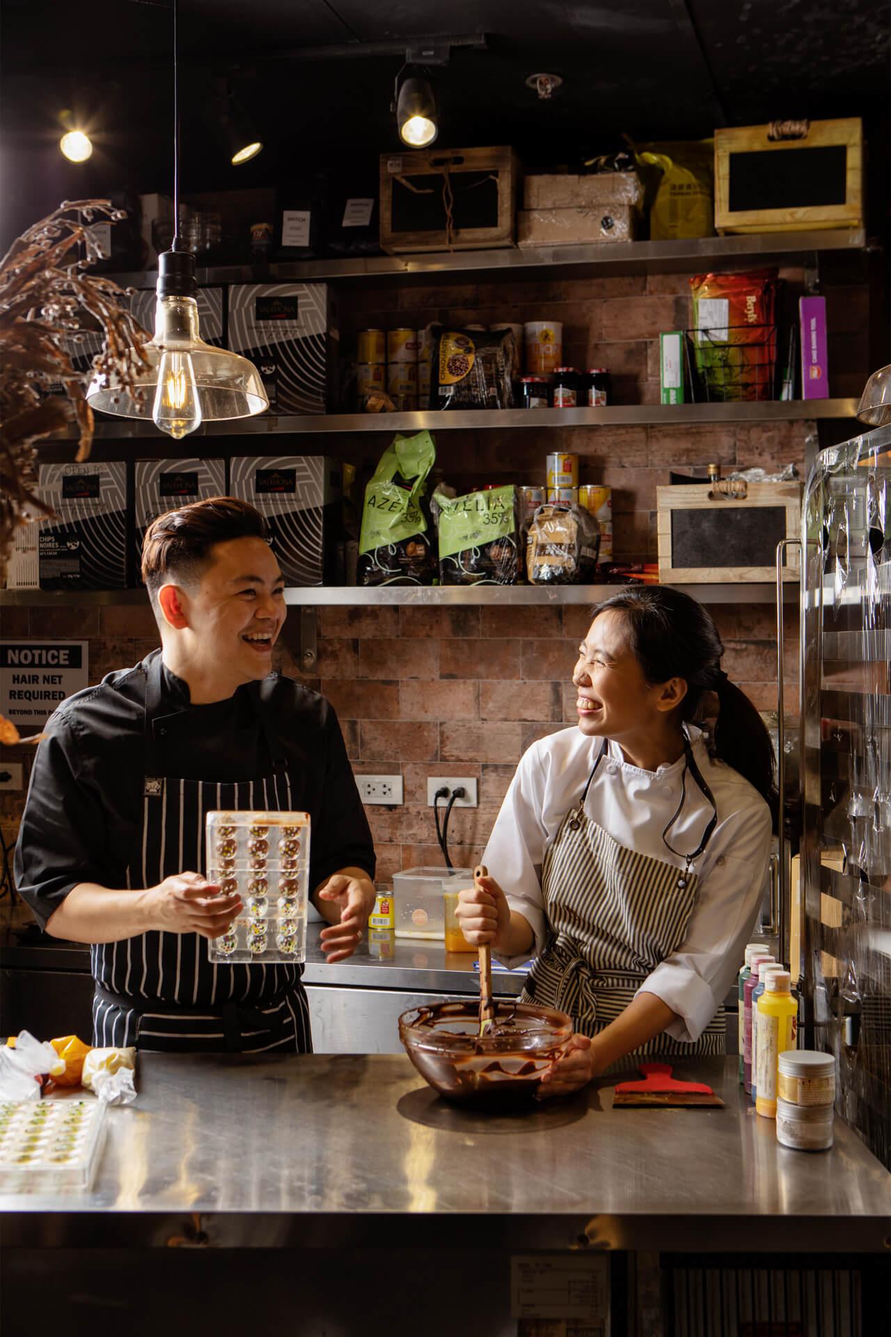 Chefs Miko Aspiras and Kristine Lotilla of Le Petite Souffle and Poison Doughnuts