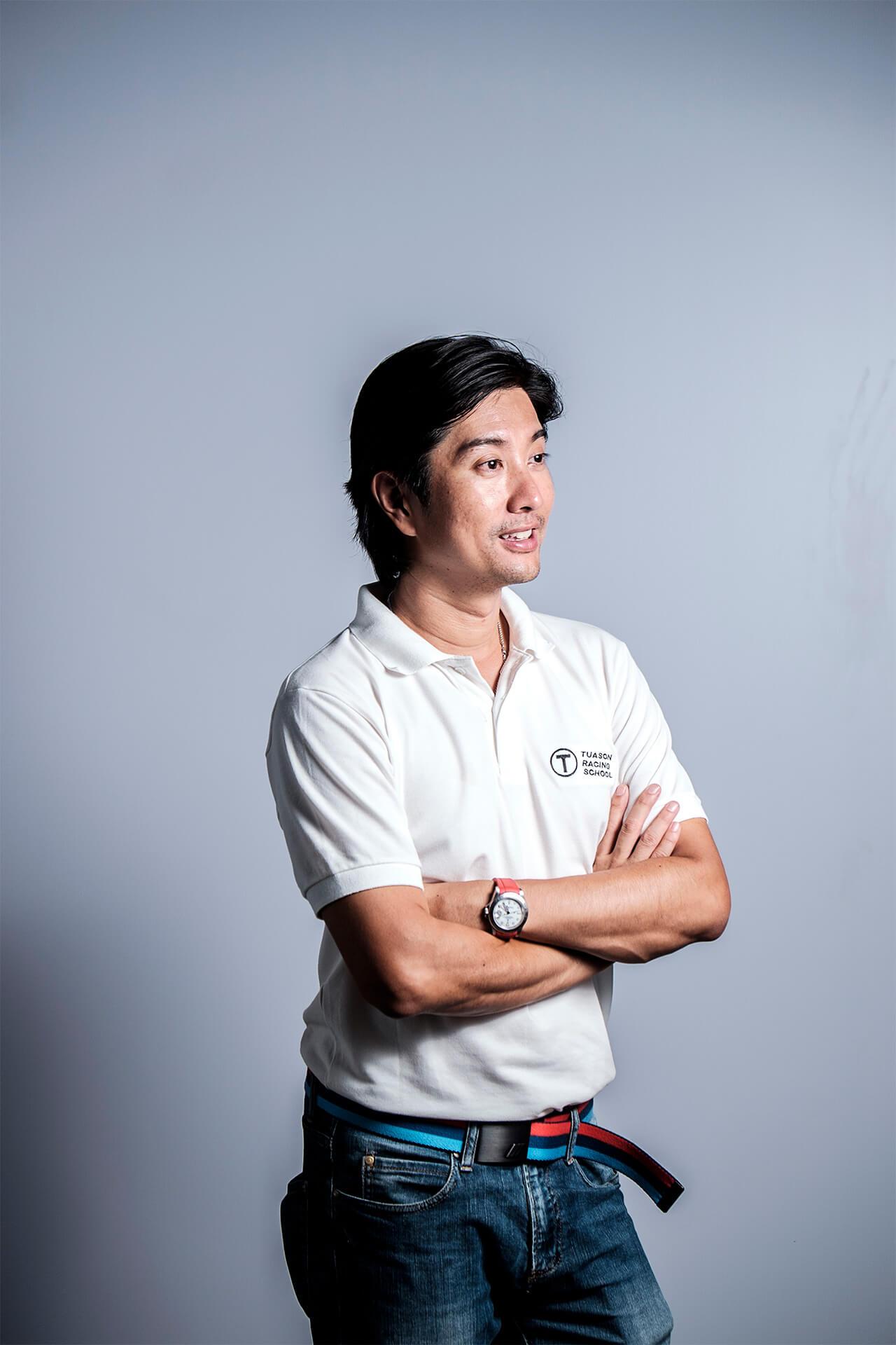 Portrait of JP Tuason of the Tuason Racing School