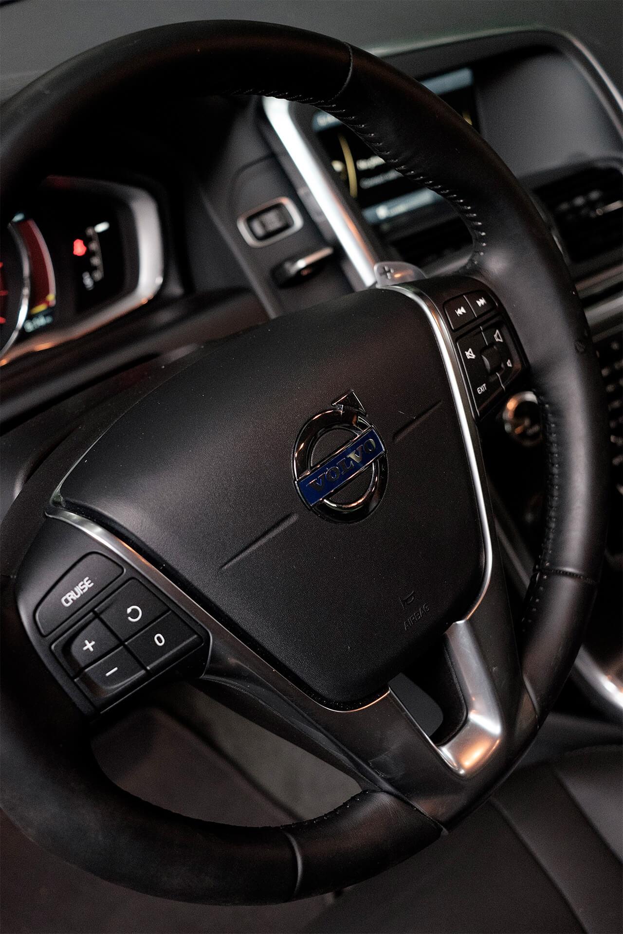 Details of the Volvo XC60 steering wheel