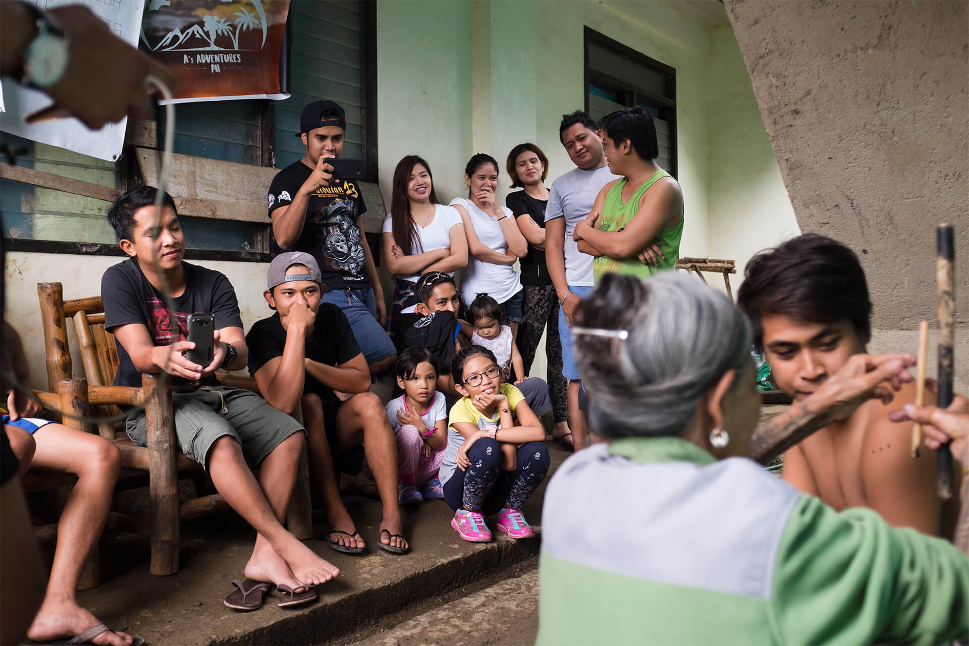 Hundreds travel to Buscalan for a Batok tattoo by Whang-Od.
