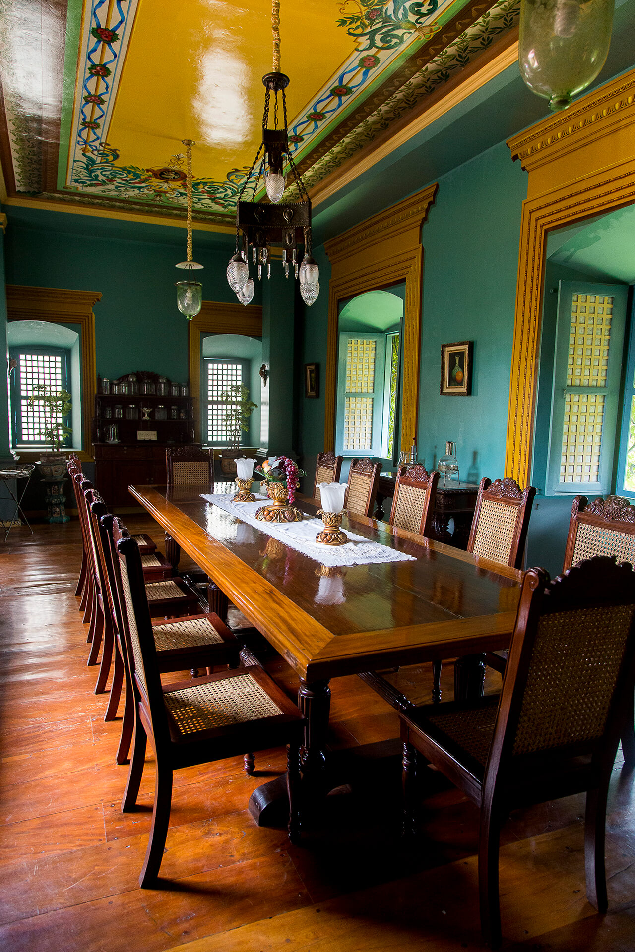 Dining room of an ancestral home in Taal