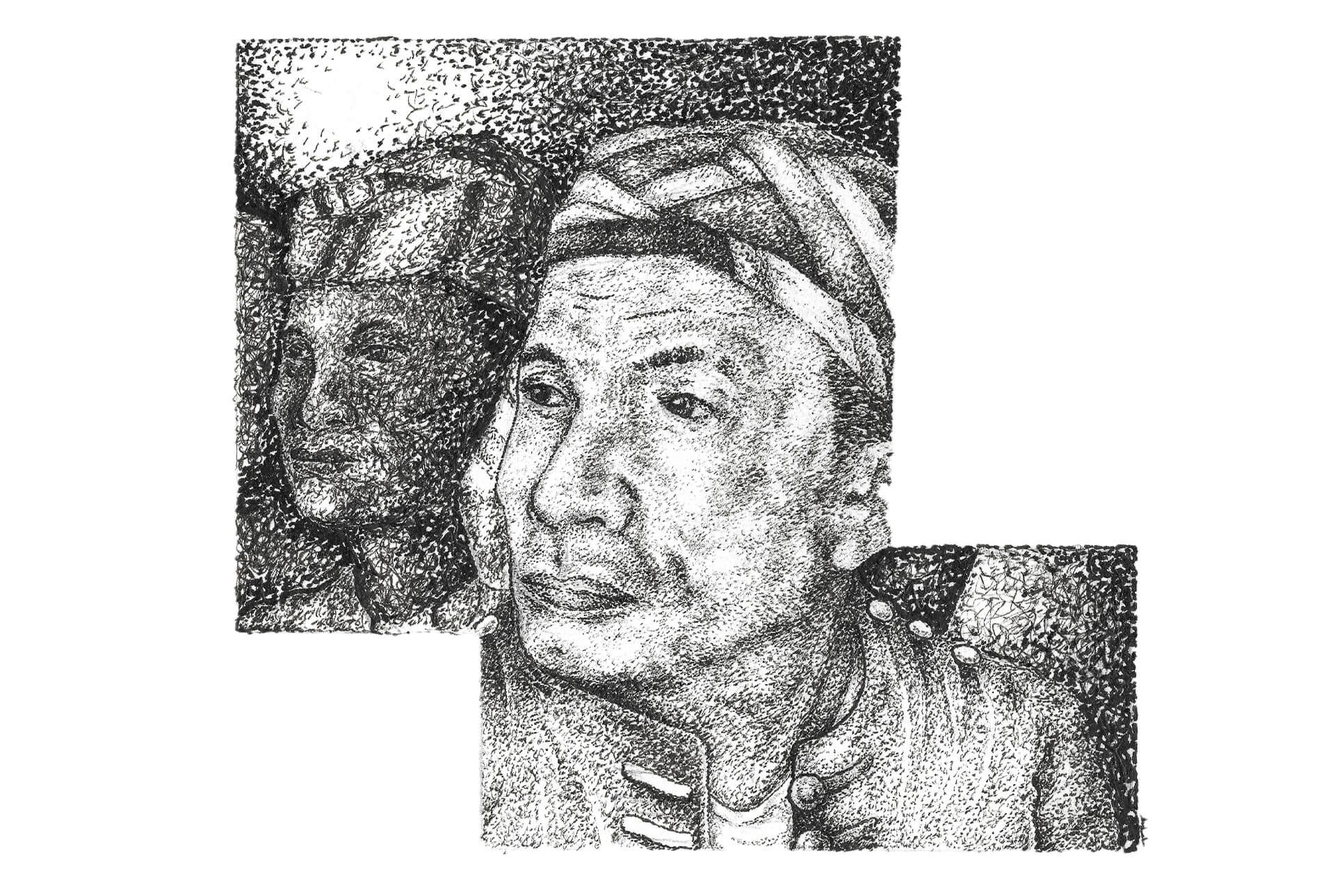 Sabil Moro Fighters Muslim Mindanao, illustration by Angelo Esperanzate