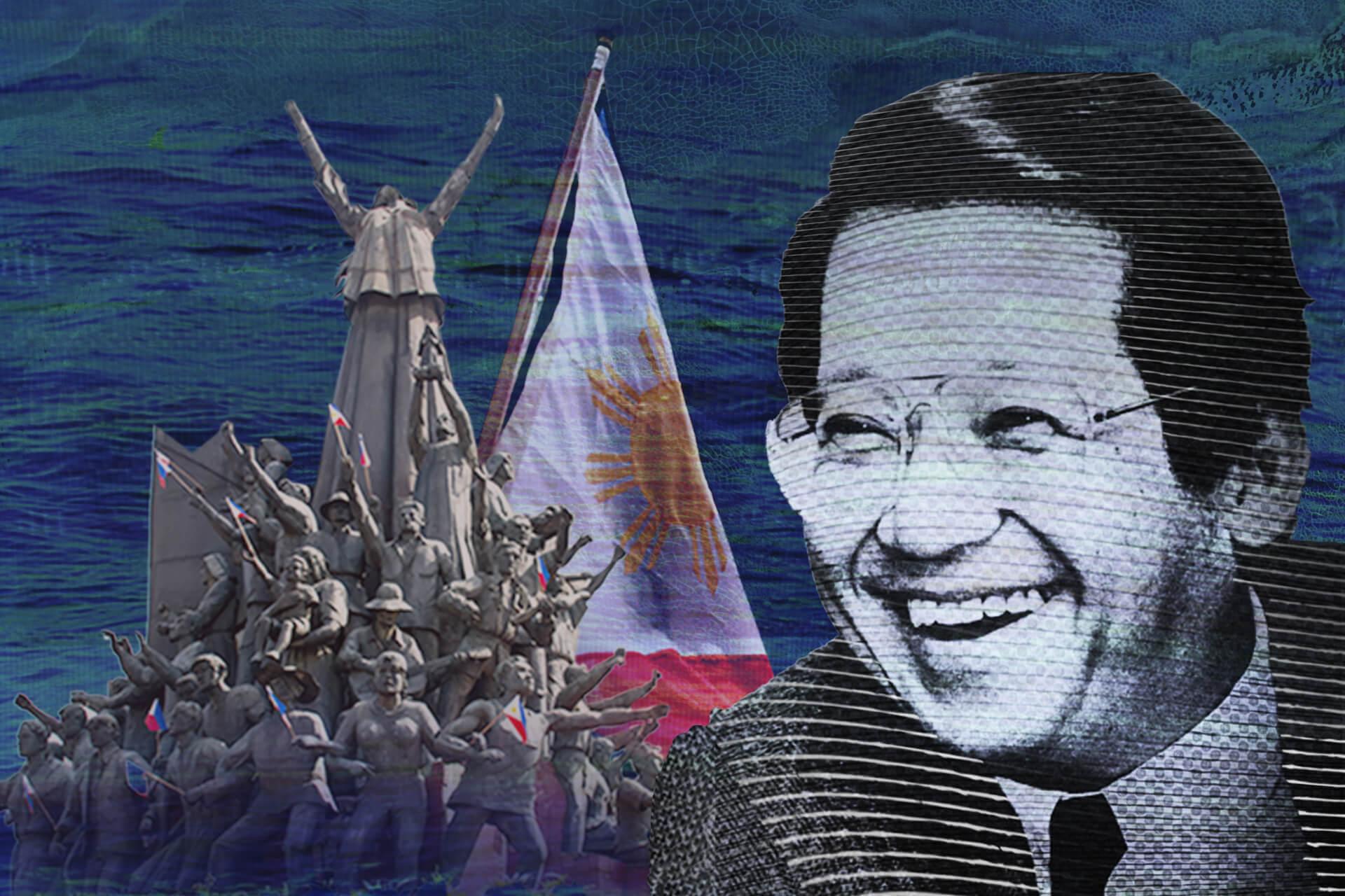 Ninoy Aquino collage by Gabby Jimenez