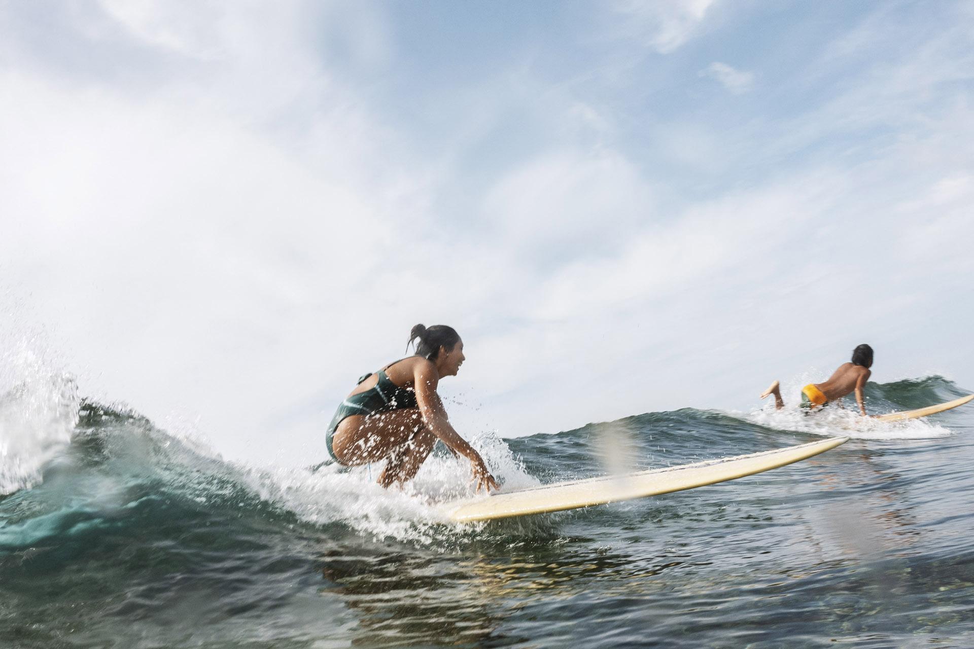 Siargao surfers lineup