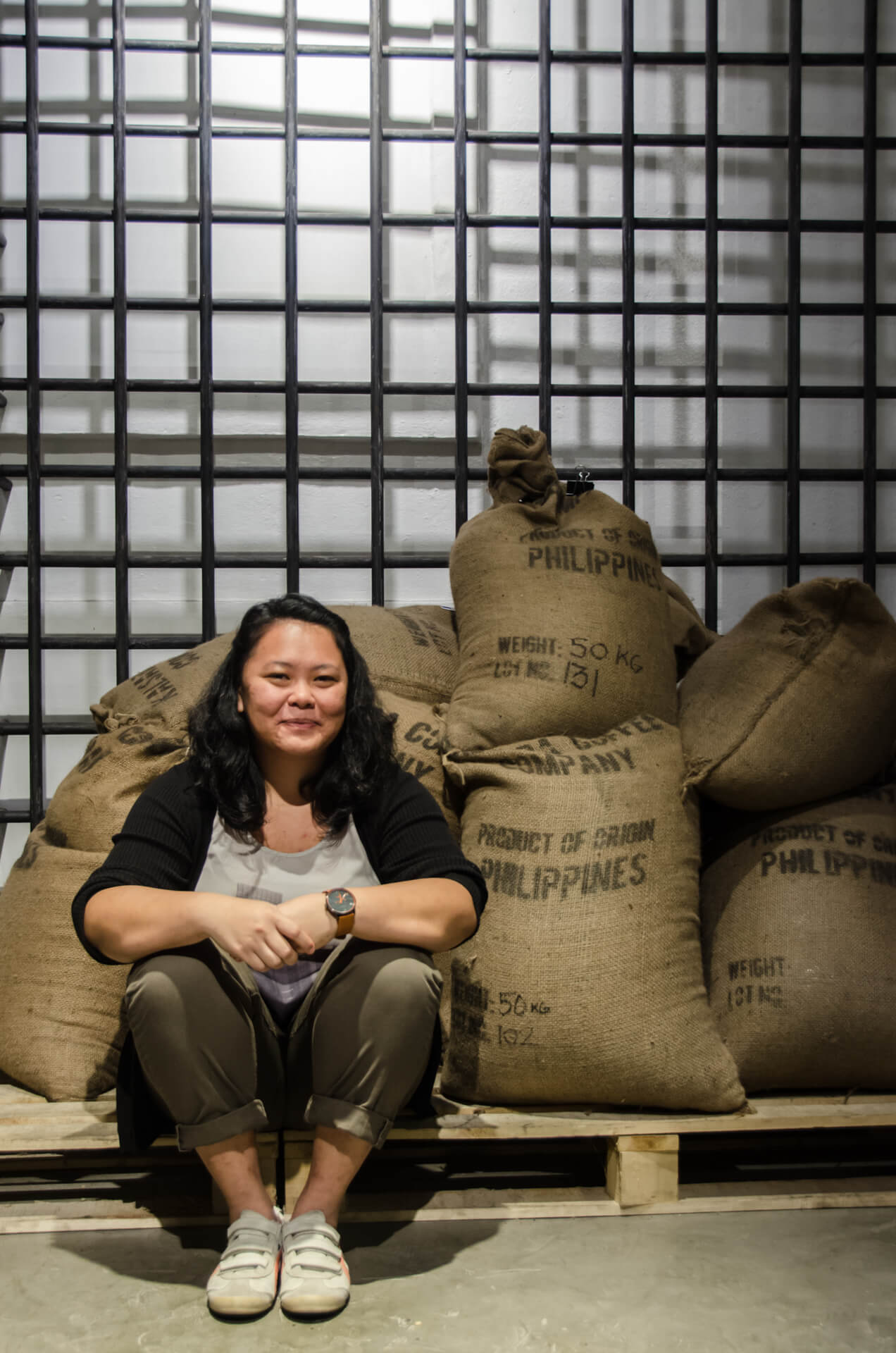 Portrait of Carmel Laurino of Kalsada Coffee