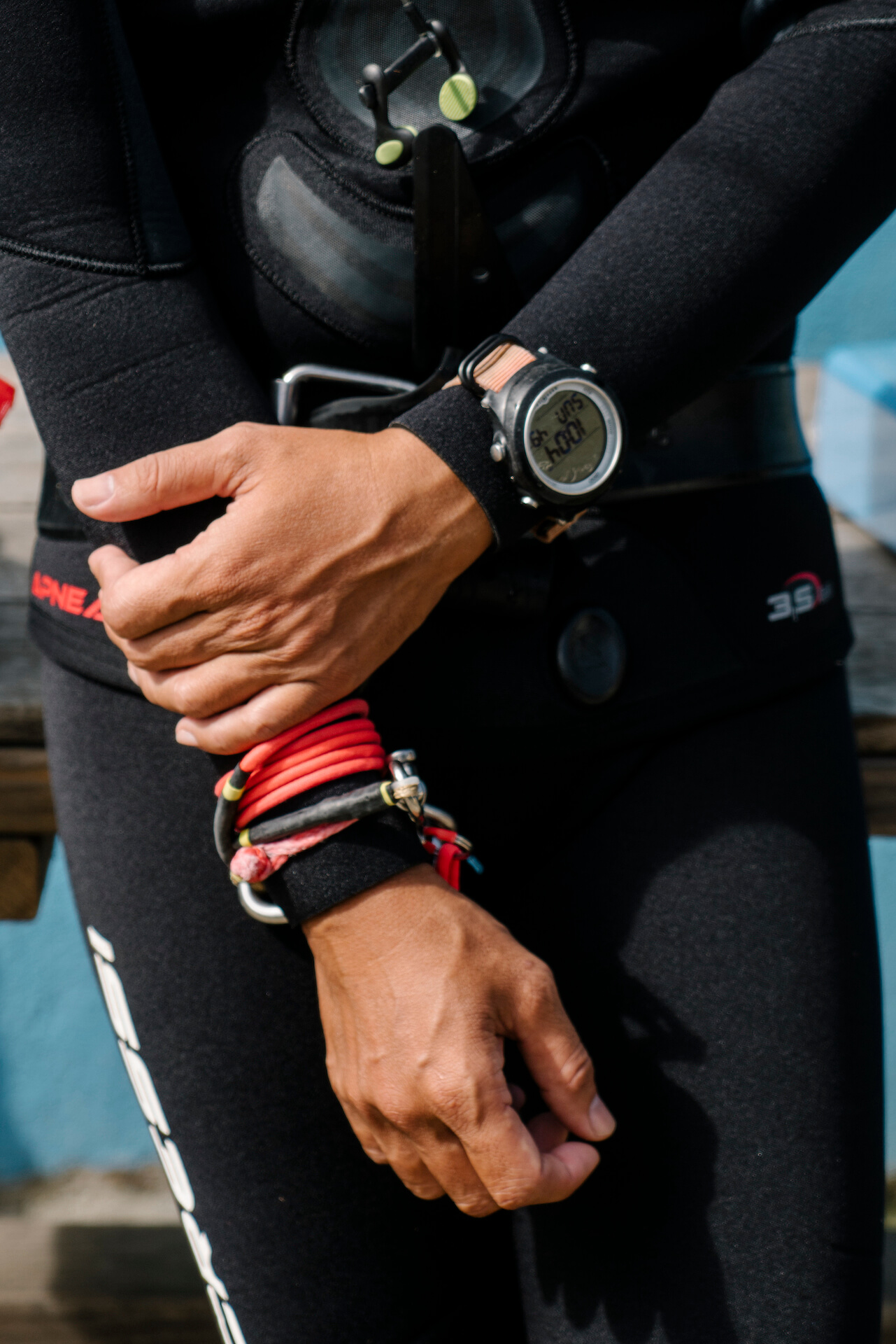 Details of freediving gear