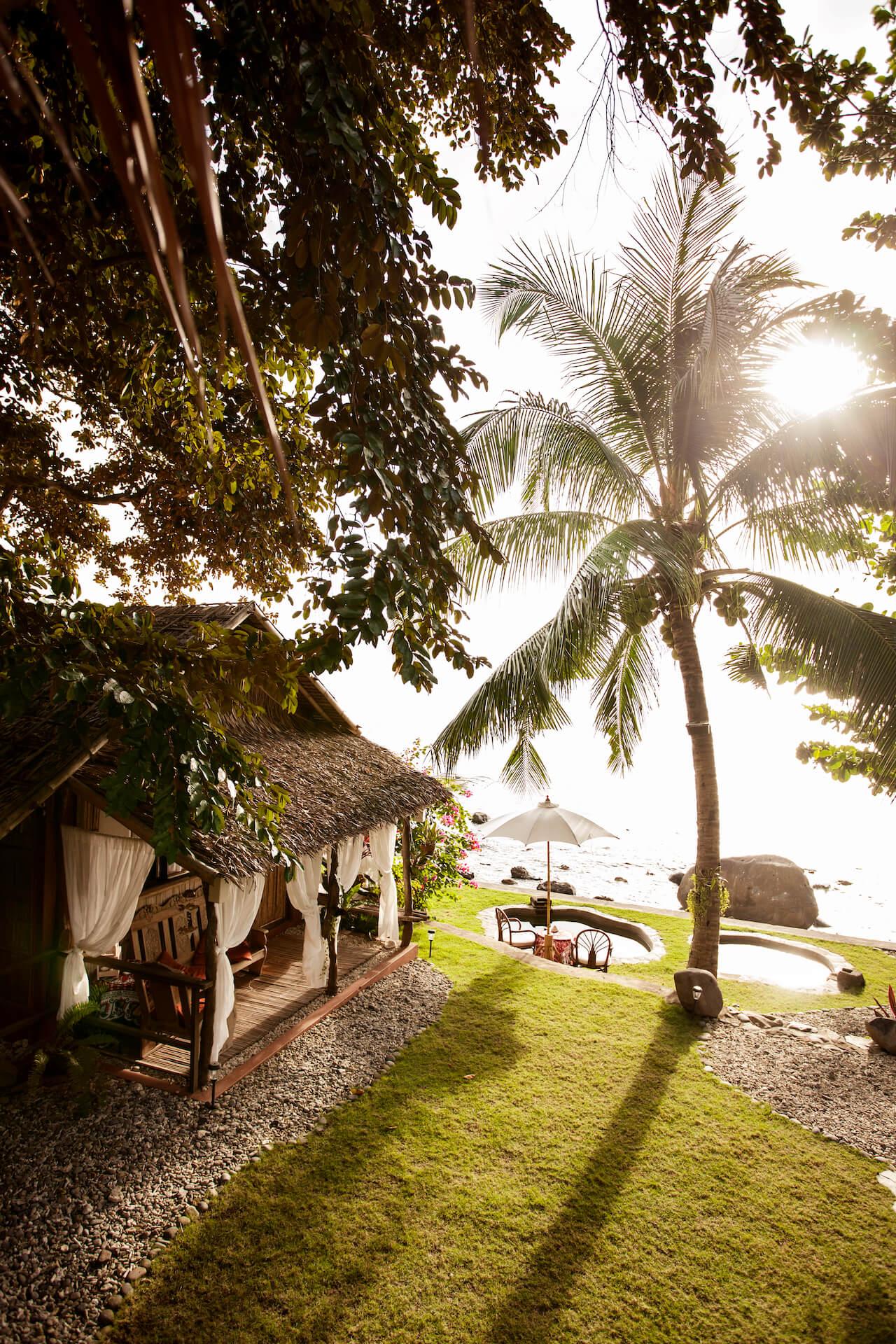 A villa in Lilom Resort overlooking the beach