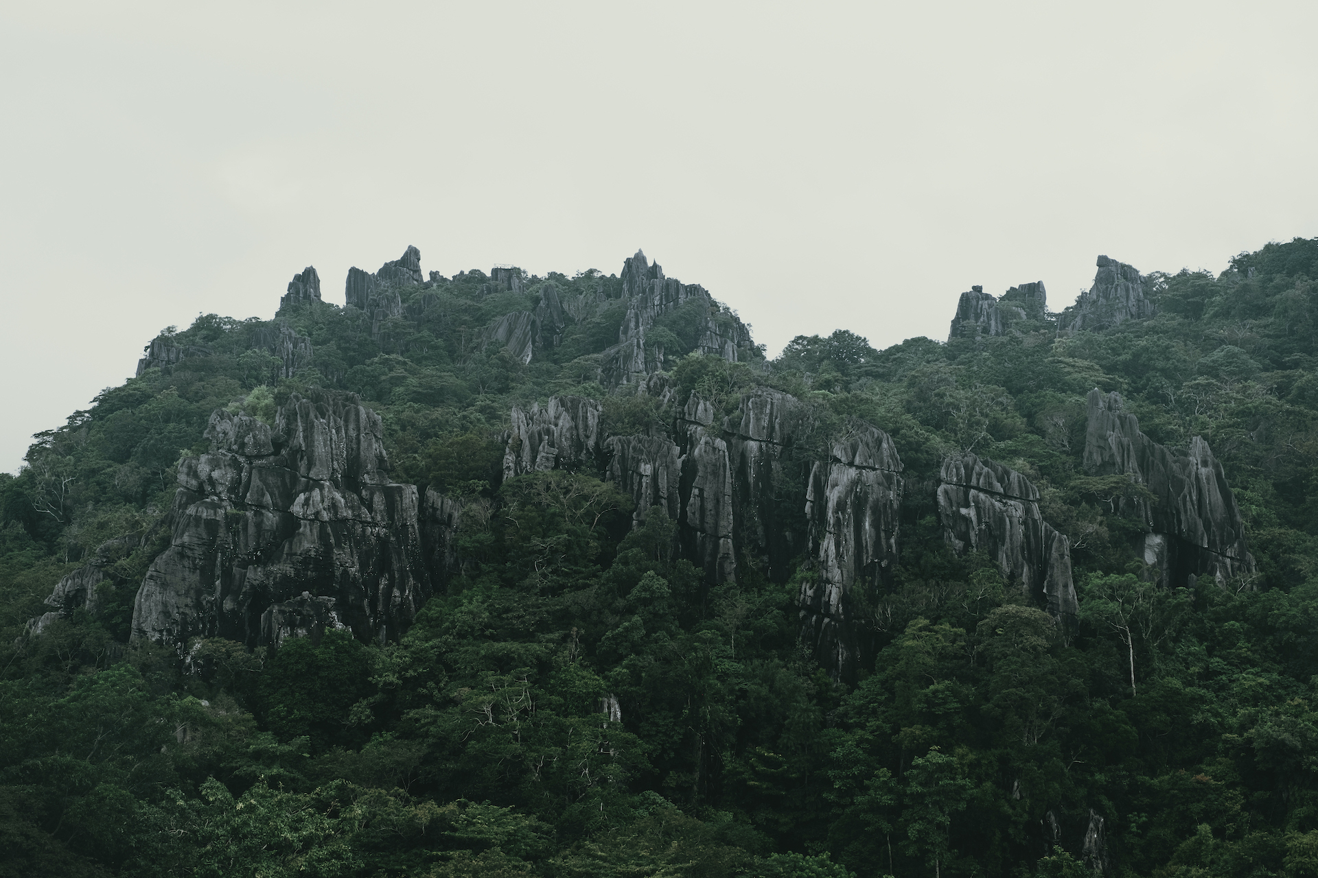 Rock formations as seen from Masungi Georeserve