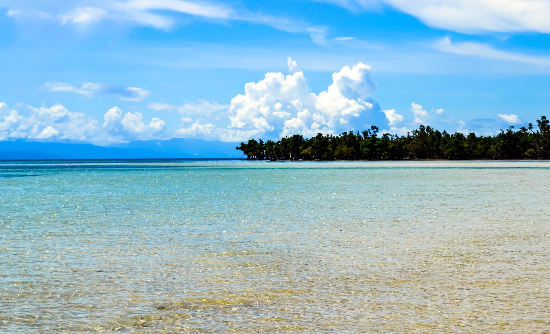 crystal blue waters beach