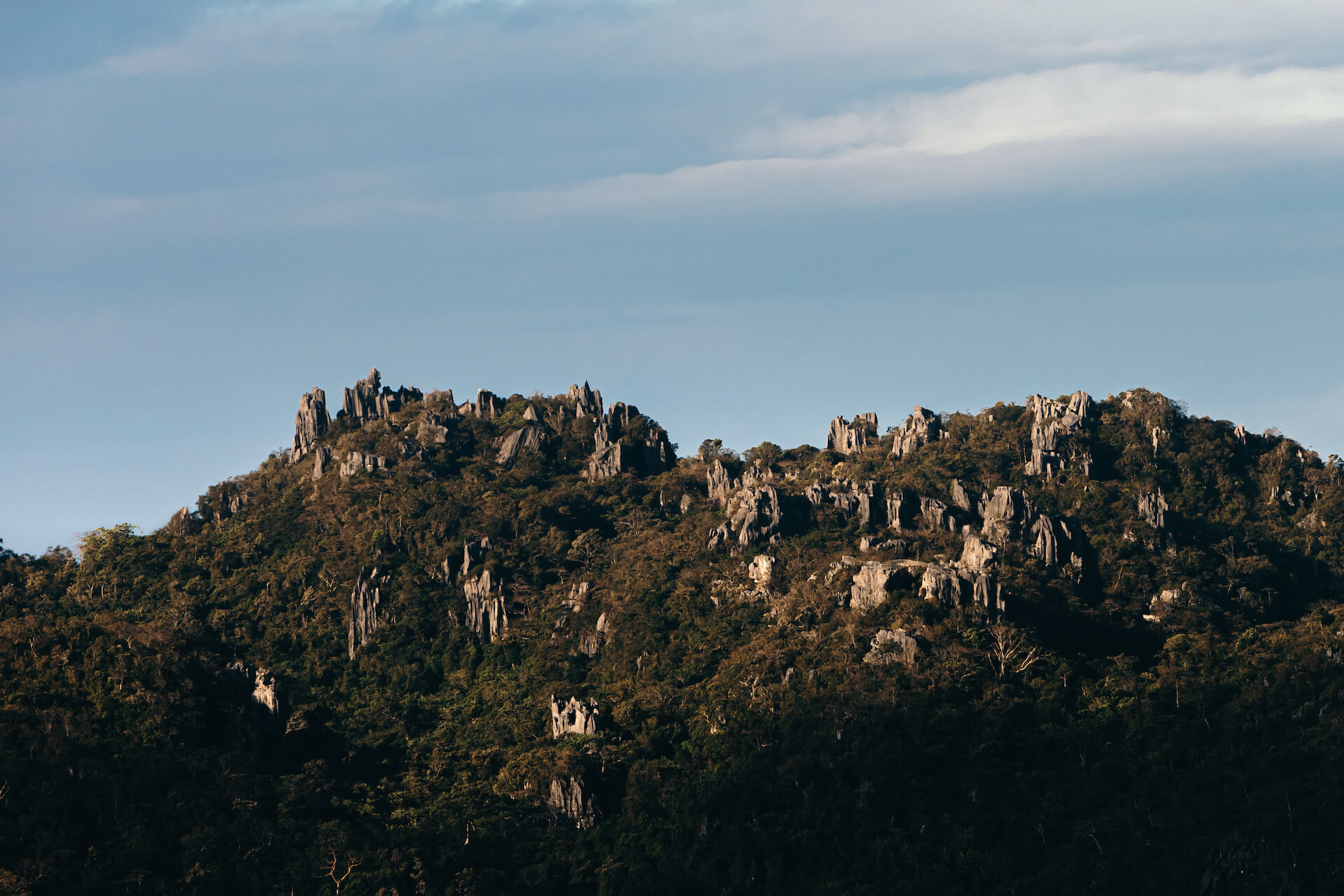 Sierra Madre rock formations as seen from Rizal