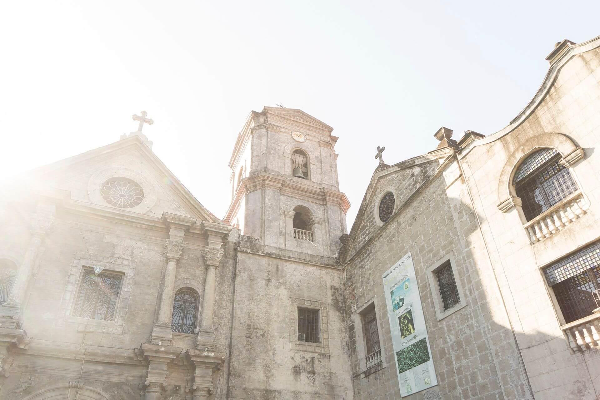 Facade of San Agustin Church