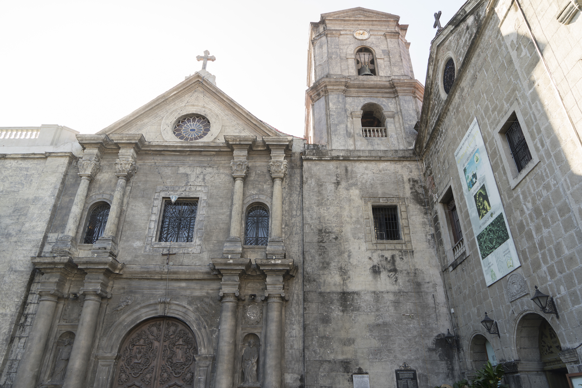 Front facade of San Agustin Church