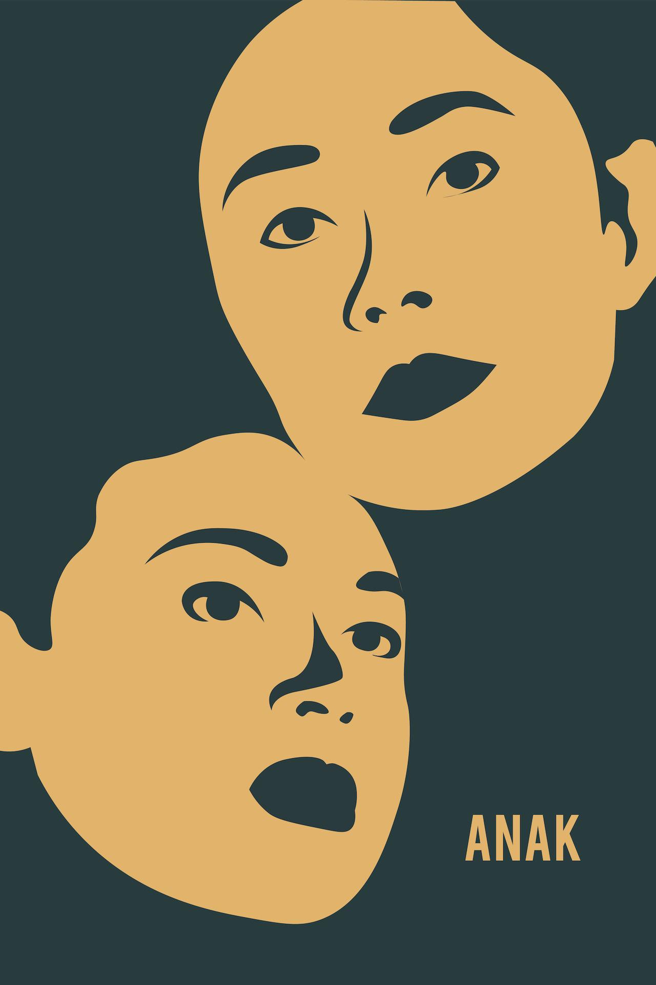 Anak starring Vilma Santos,  illustration by Isabela Ferrer