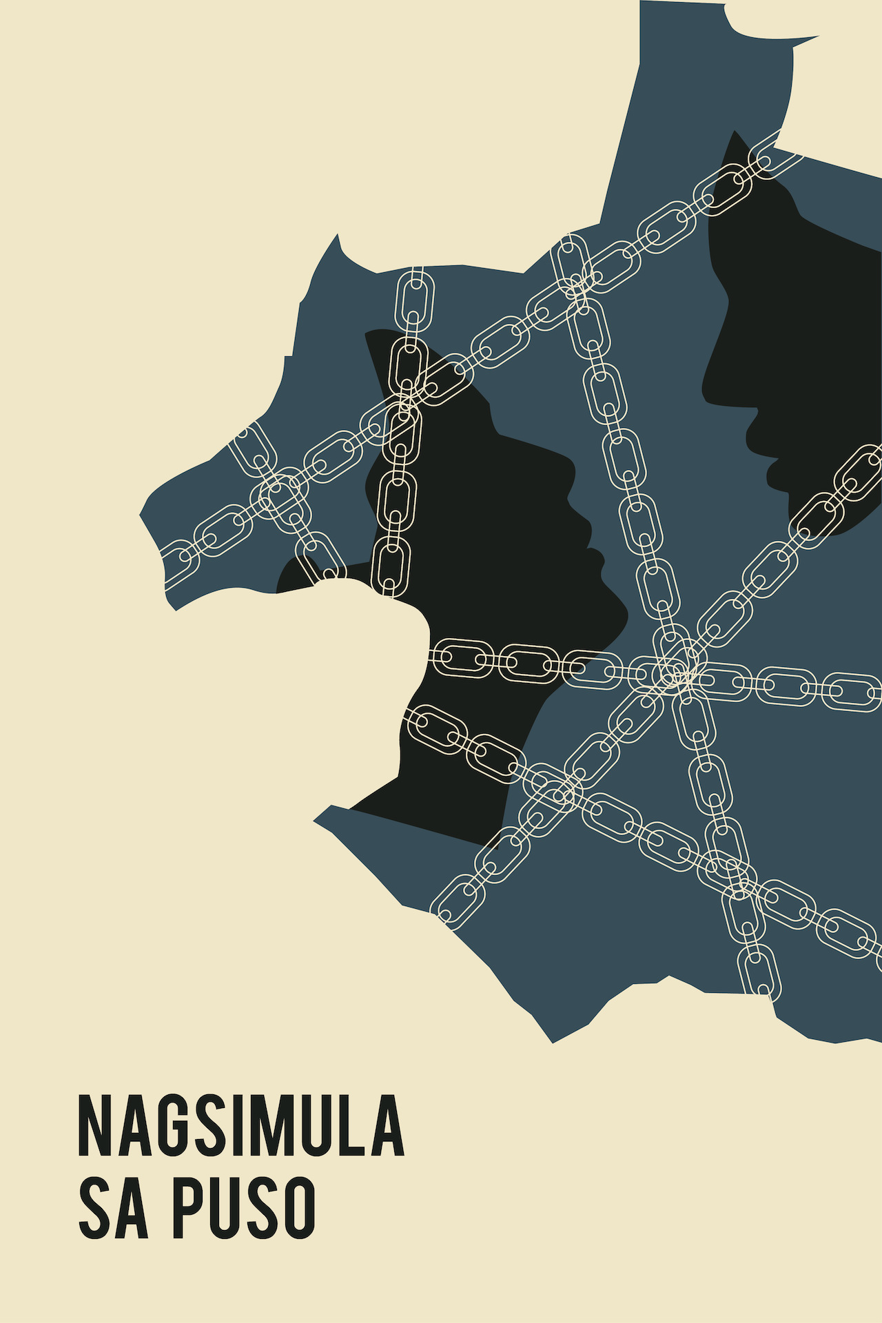 Nagsimula Sa Puso film poster,  illustration by Isabela Ferrer