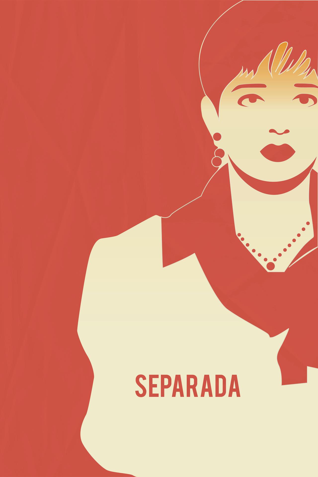Separada film poster, illustration by Isabela Ferrer