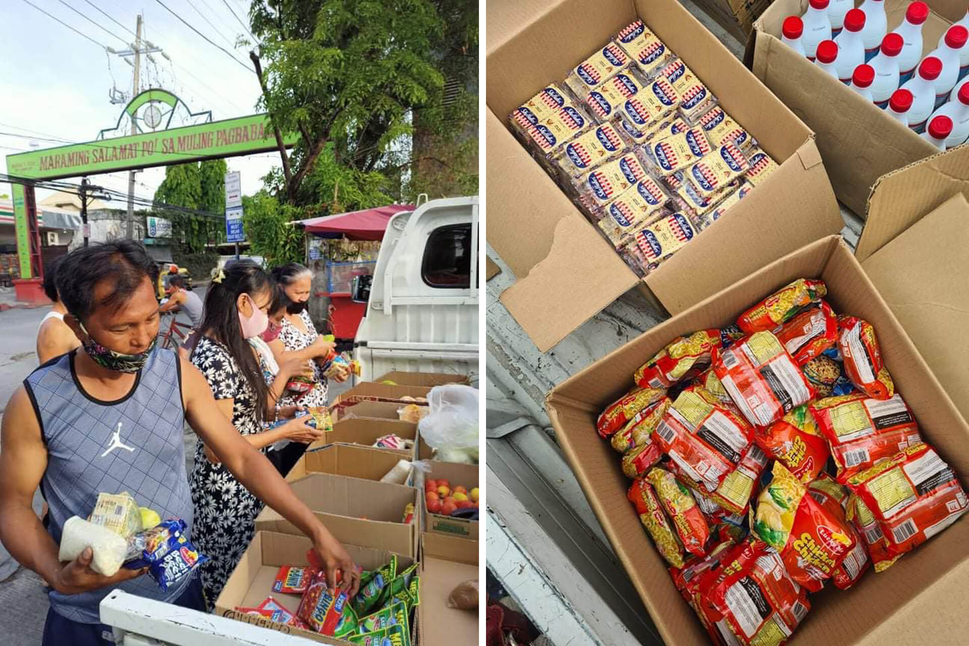 The Greenwoods Area 1 community pantry services communities along Sandoval Ave. in Pasig