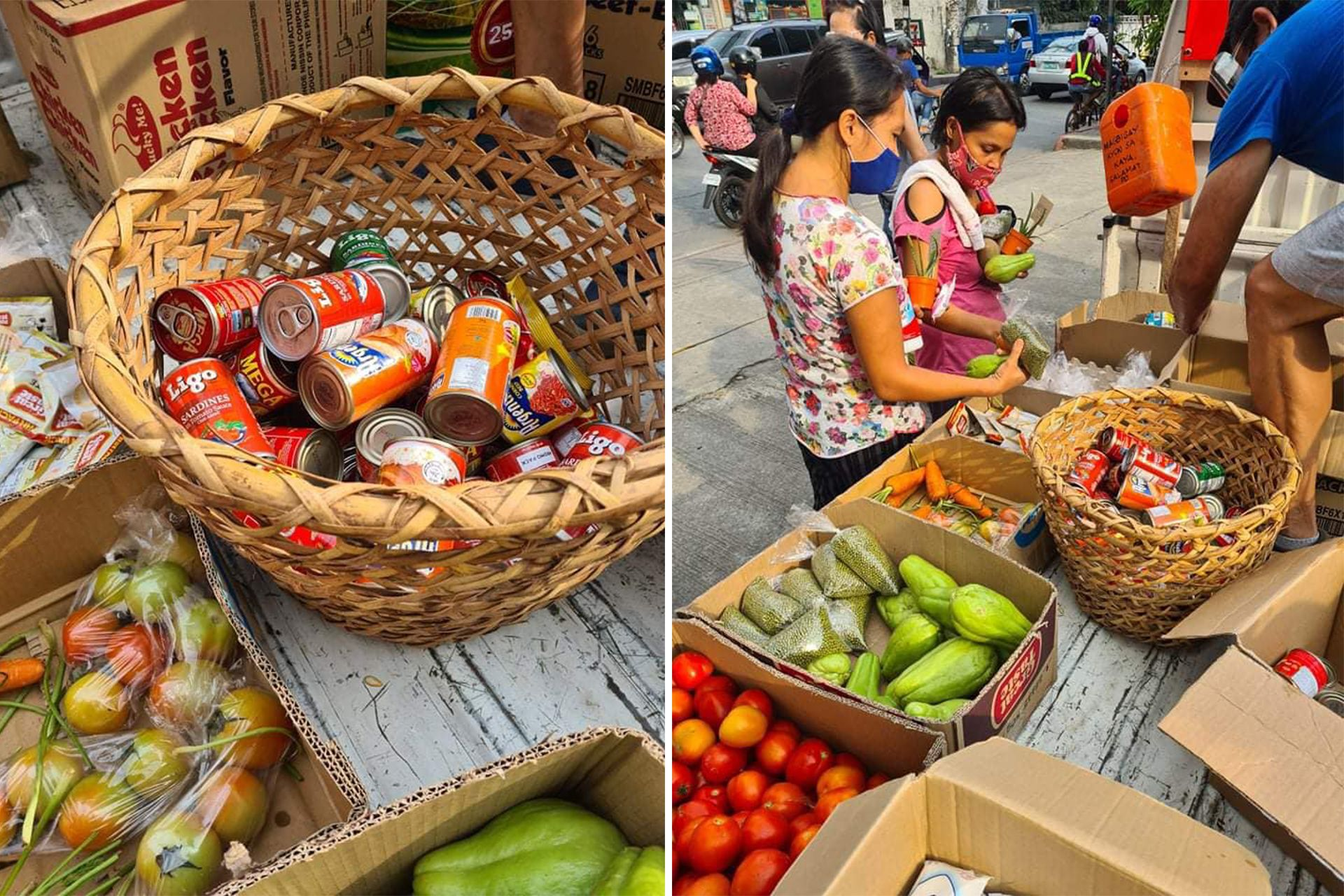 Greenwoods community pantry in Cainta, Rizal