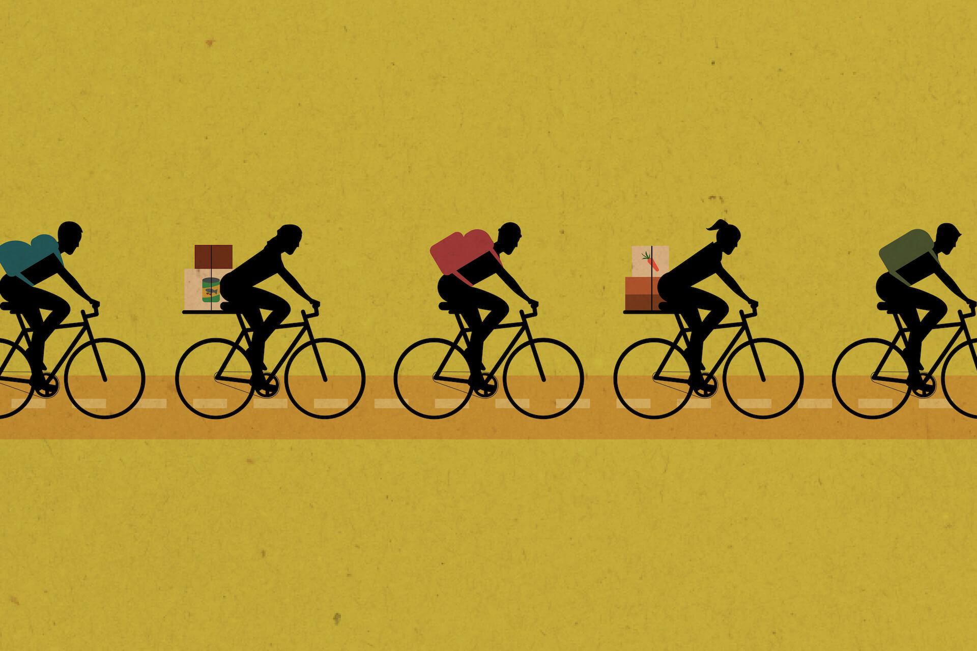 In Metro Manila, cyclists are bringing goods to community pantries