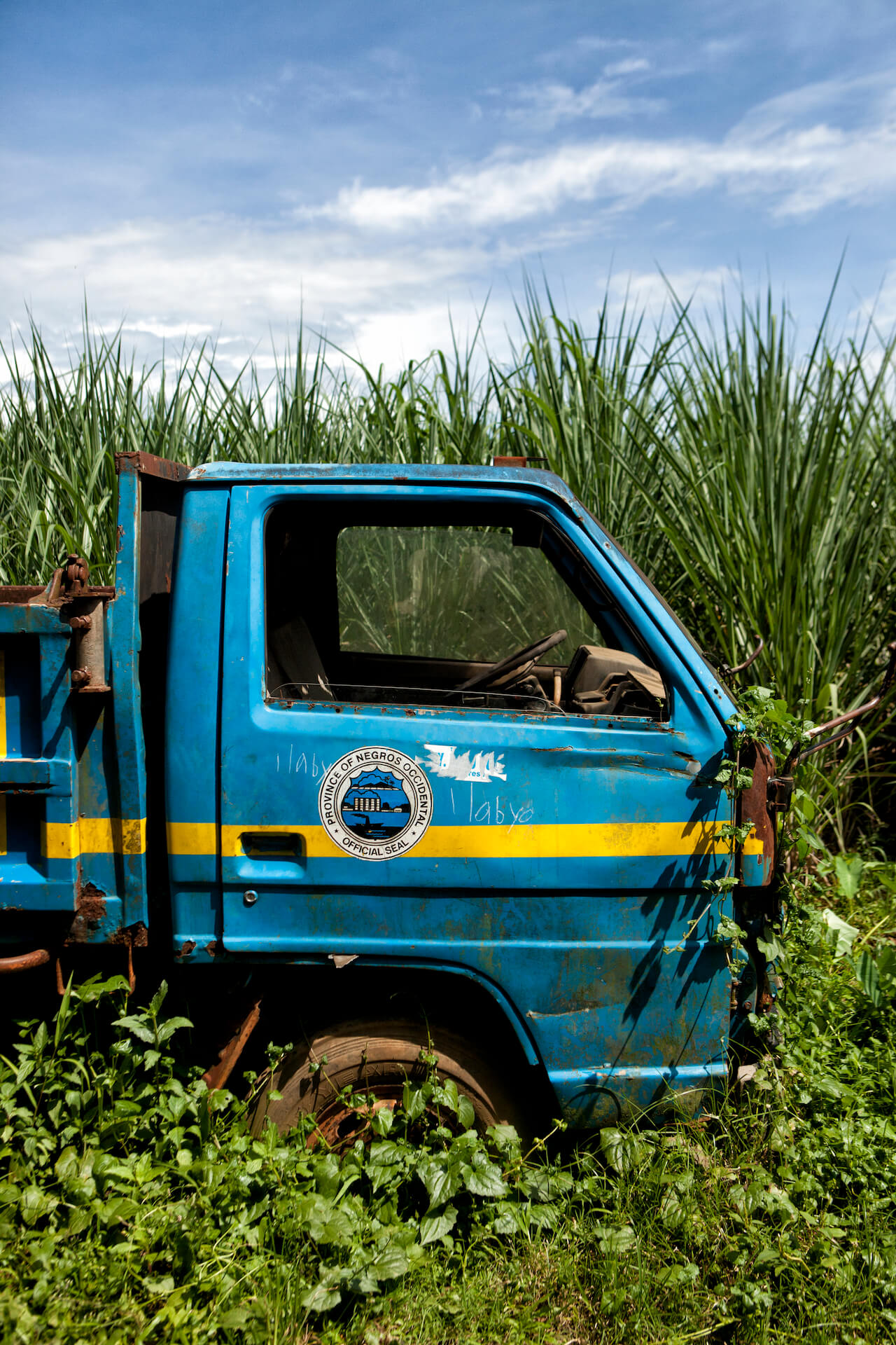 Truck with the official Negros Occidental seal