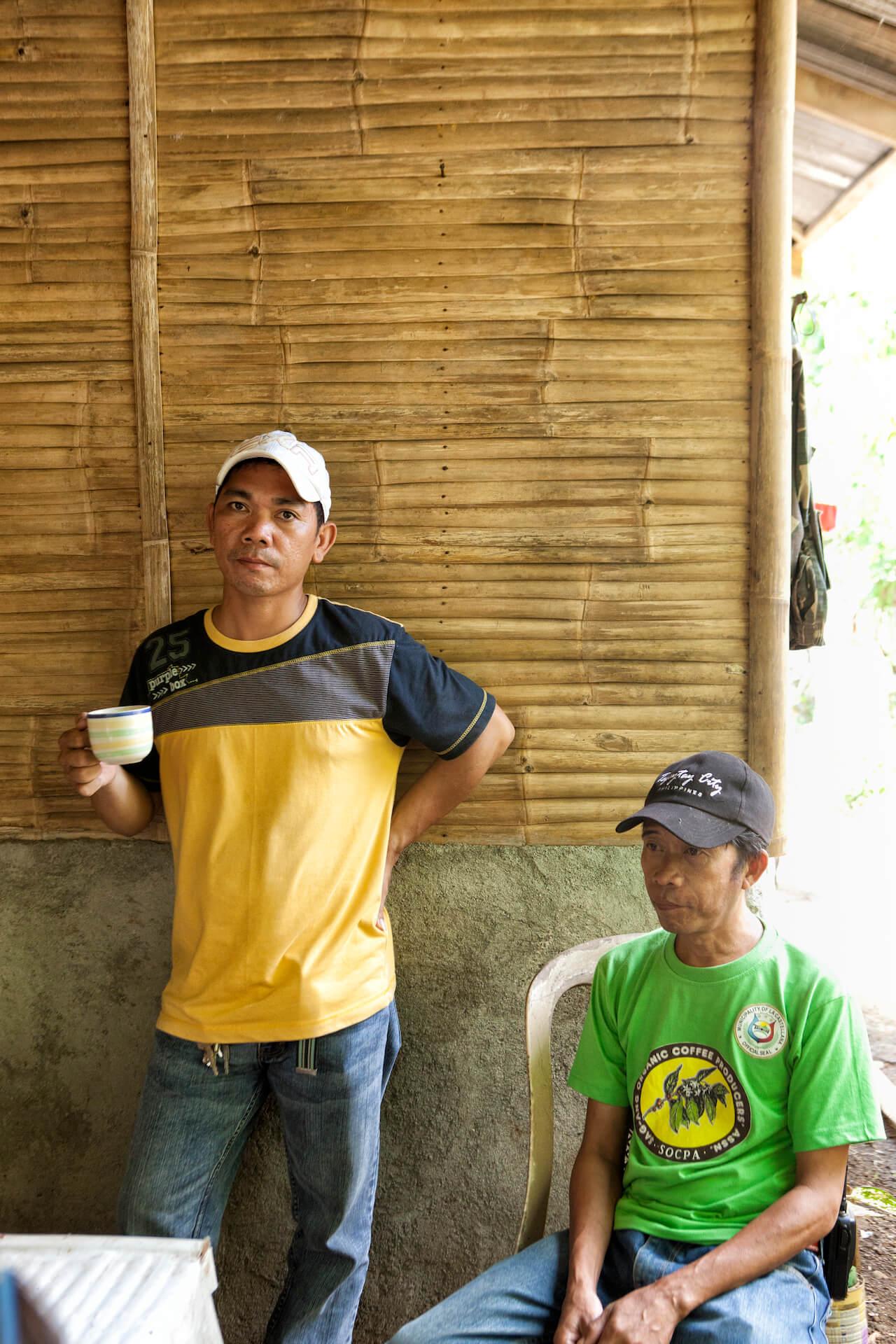 Manong John and Manong Vic Labrador, organic coffee farmers from La Castellana